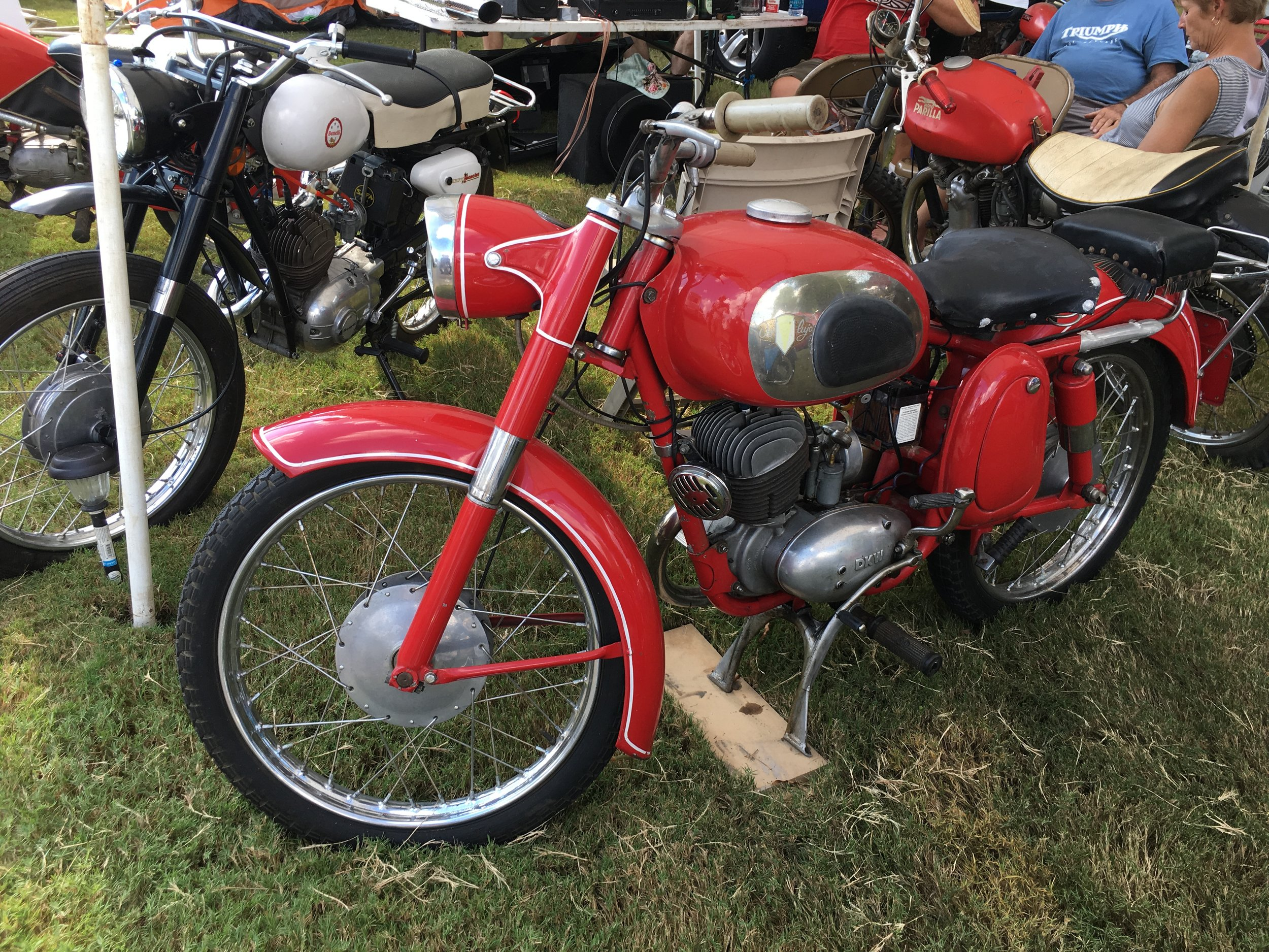 DKW with a pillion seat way off the rear….