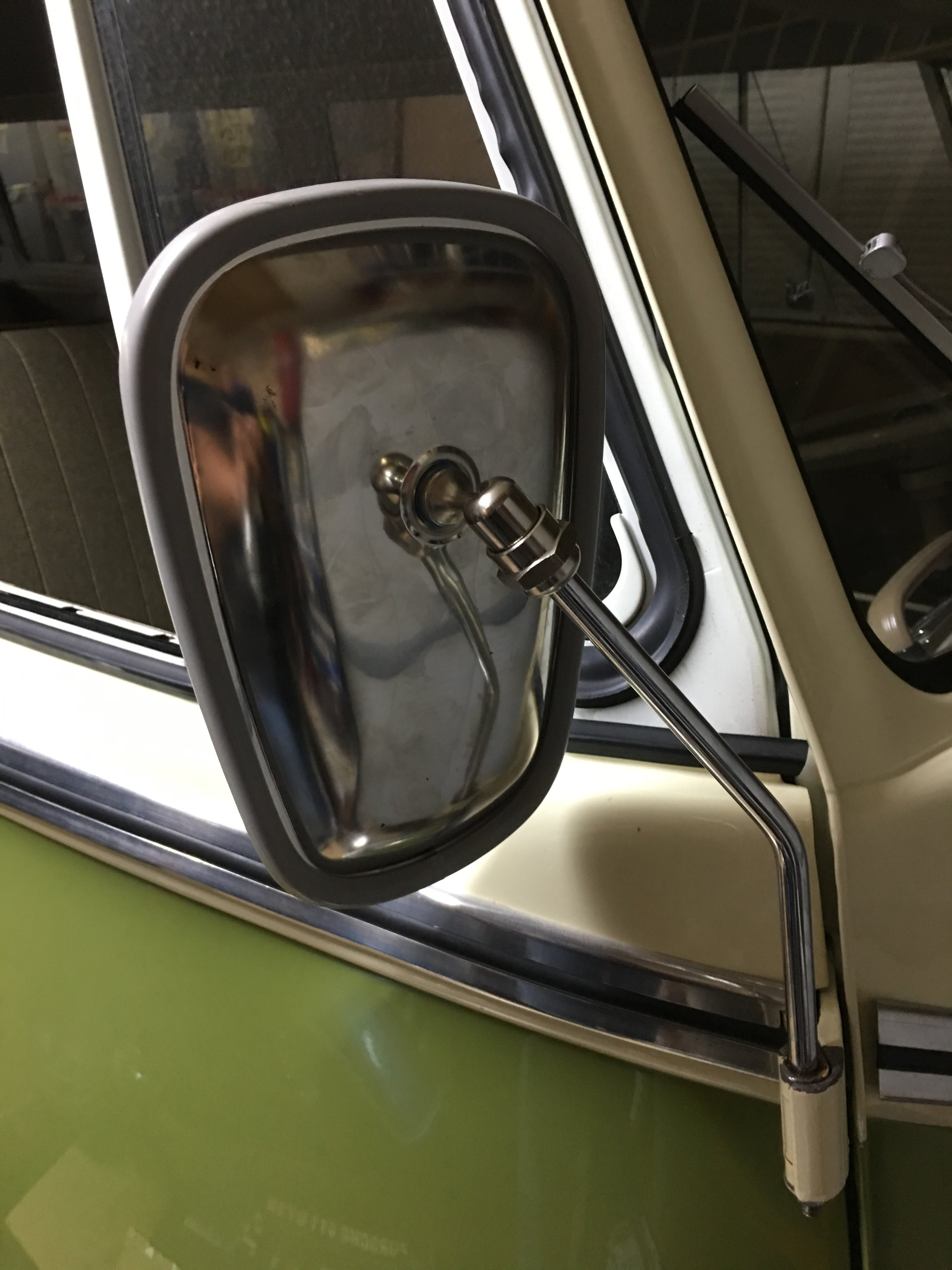 Now equipped with passenger side mirror !