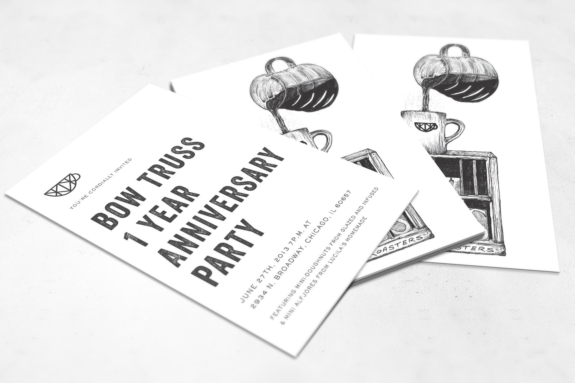 Invitation Card Illustration by Eric Mcneil