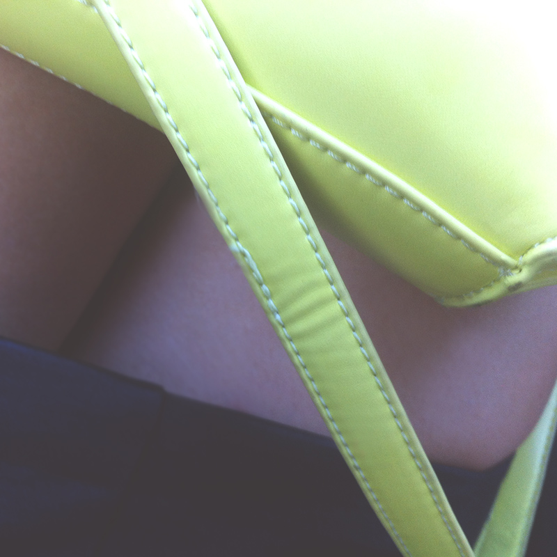 Neon yellow bag from Le Deux in Burieligh