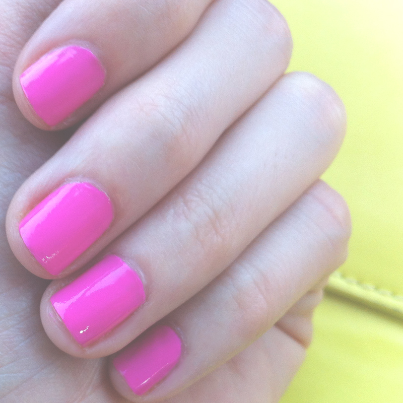 Neon pink nails.. The colour is called 'Bombshell by Australis