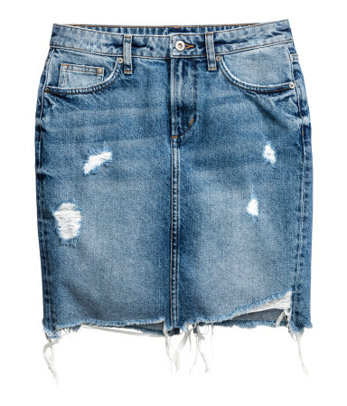 H&M -  DENIM SKIRT  - $49.99
