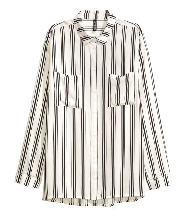 H&M -  STRIPE SHIRT  - $24.99