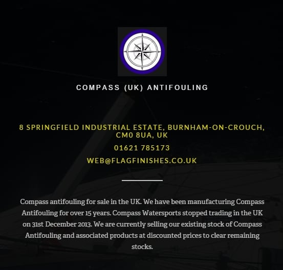 compass uk antifouling from flag paints