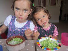 Grace and Ivy; Pea Pesto for Supper