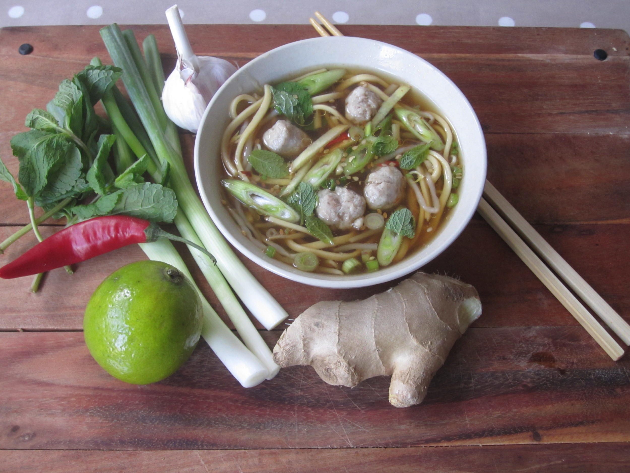 Noodle broth for the kids