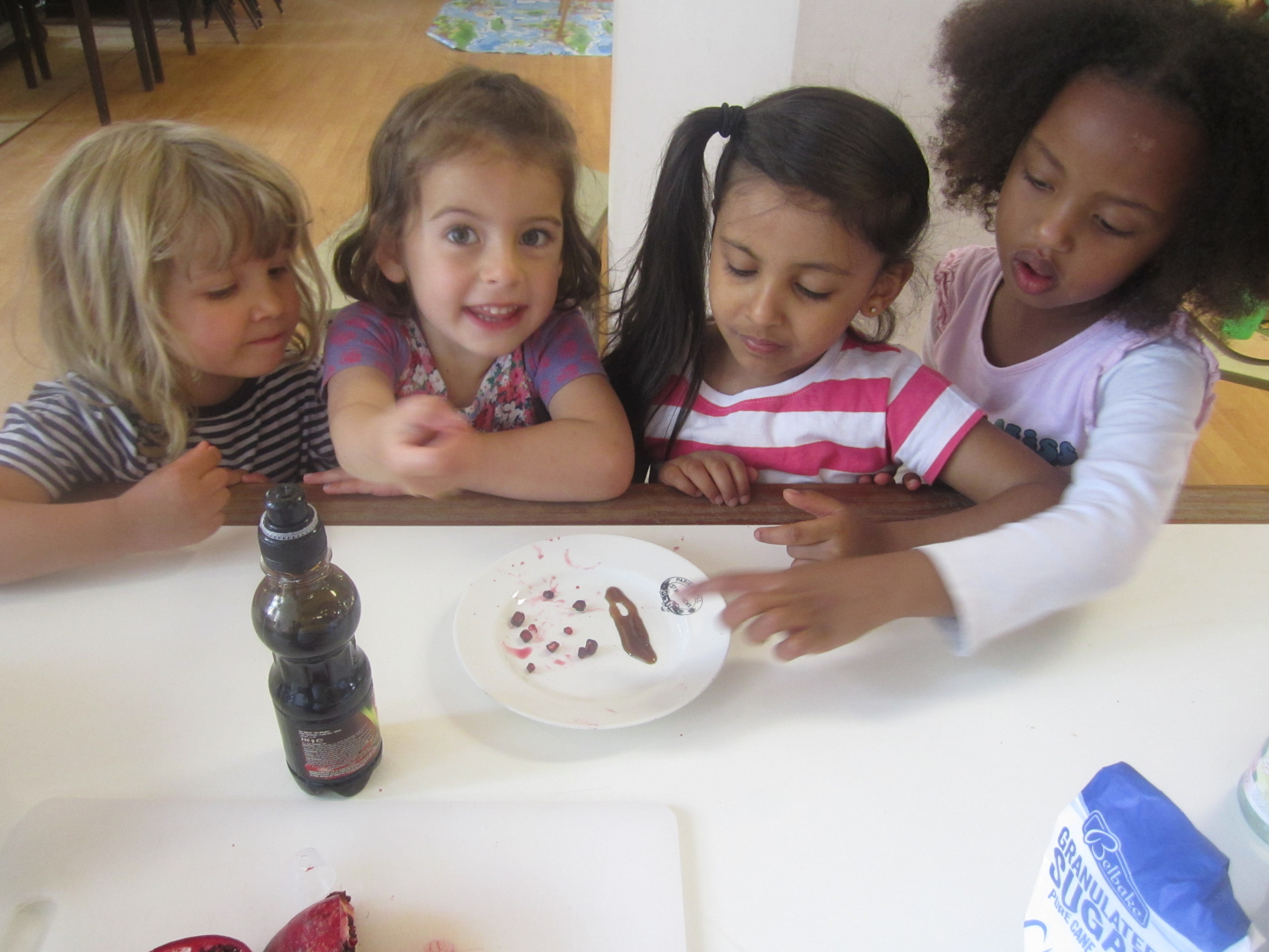 Play school cookery session - Ivy and friends.