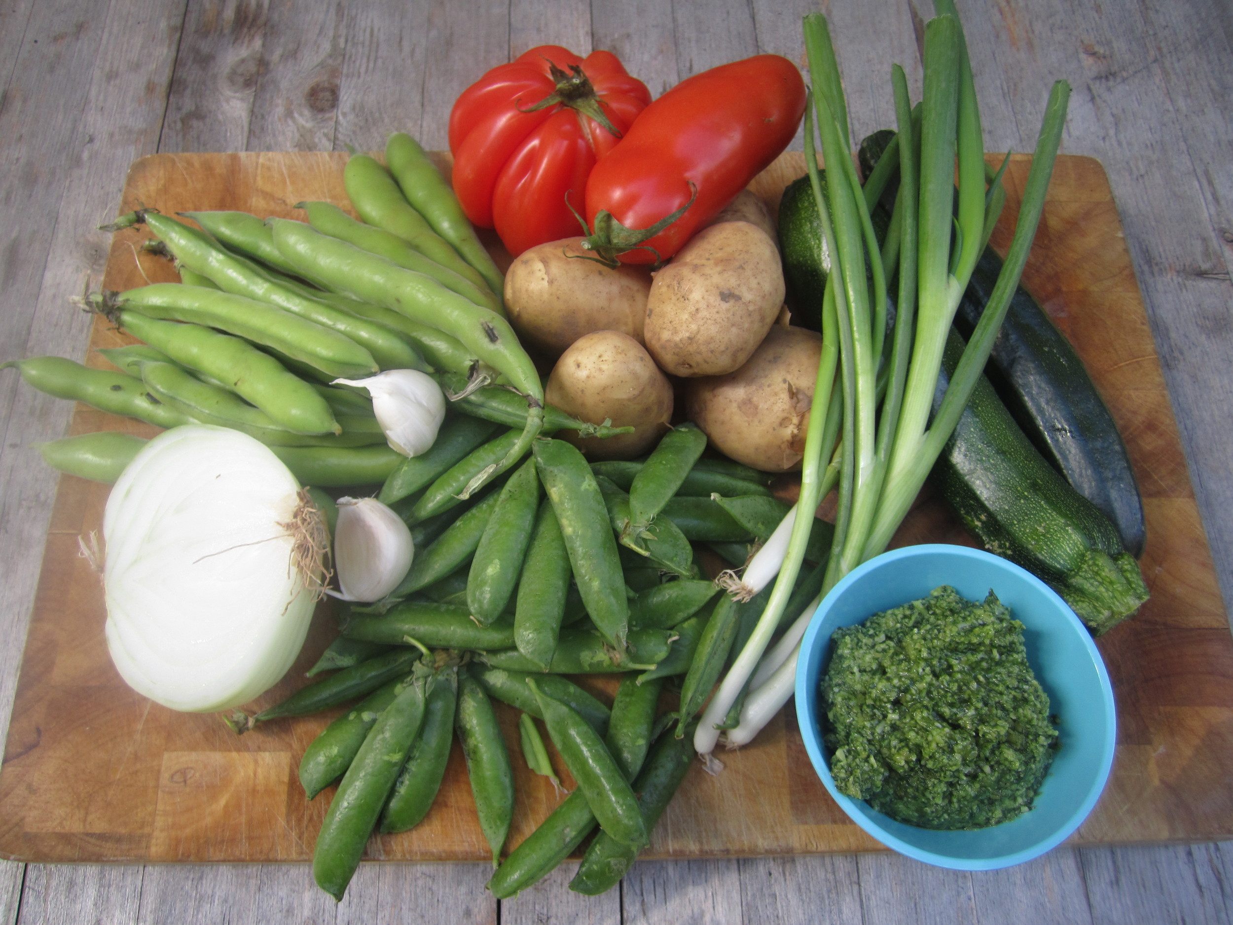 Vegetables by stealth + ever popular pesto