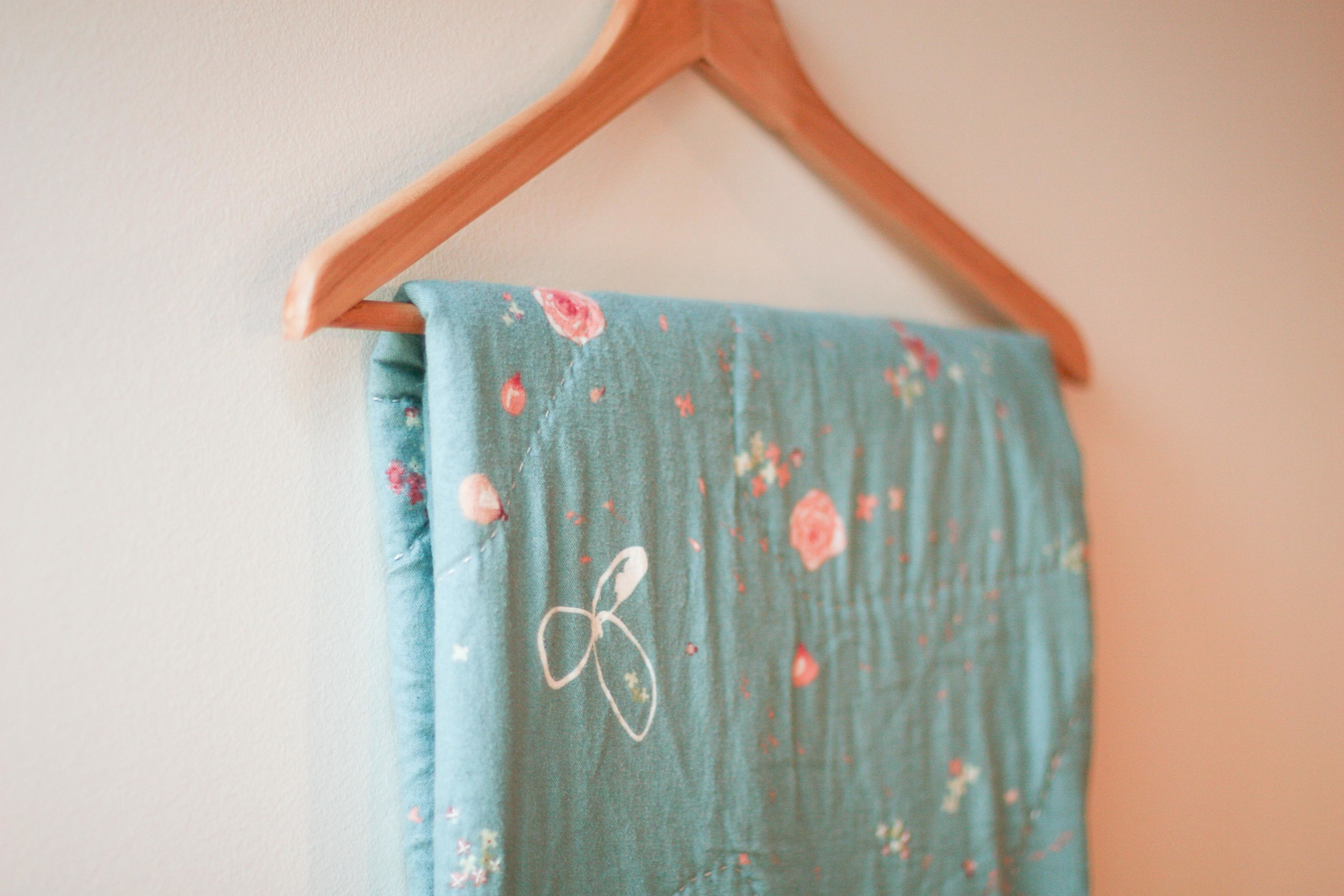 Whole cloth quilt.