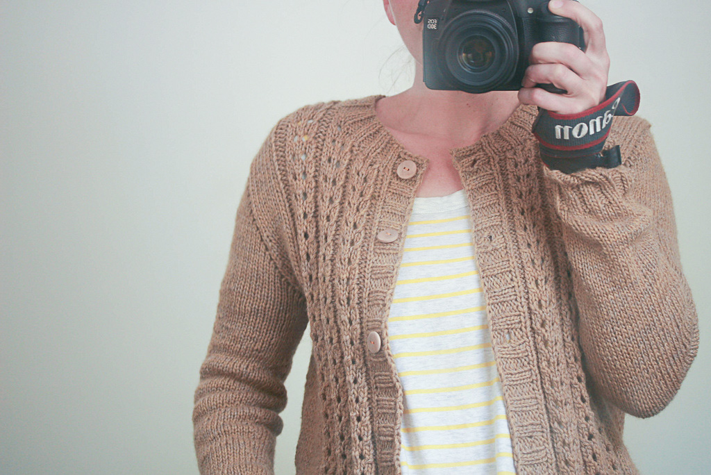 I don't wear thick round neck lace cardigans! Love this pattern by NadiaCrétin-Léchenne