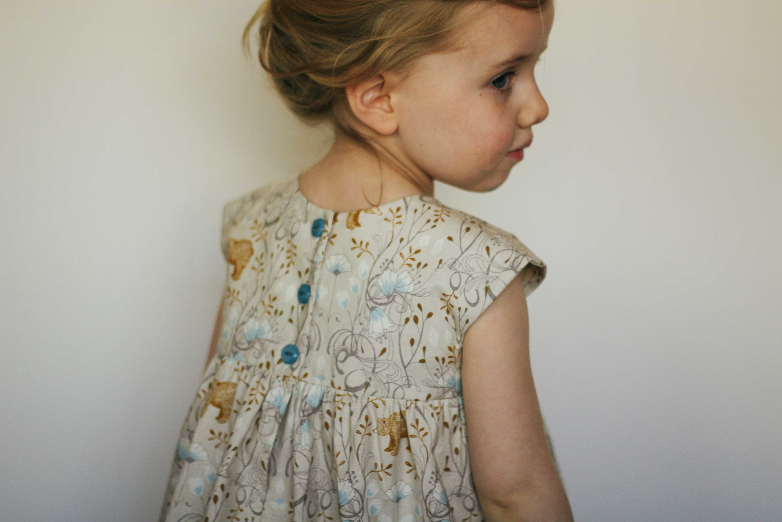 Fun - Love love love this pattern, fabric and small person