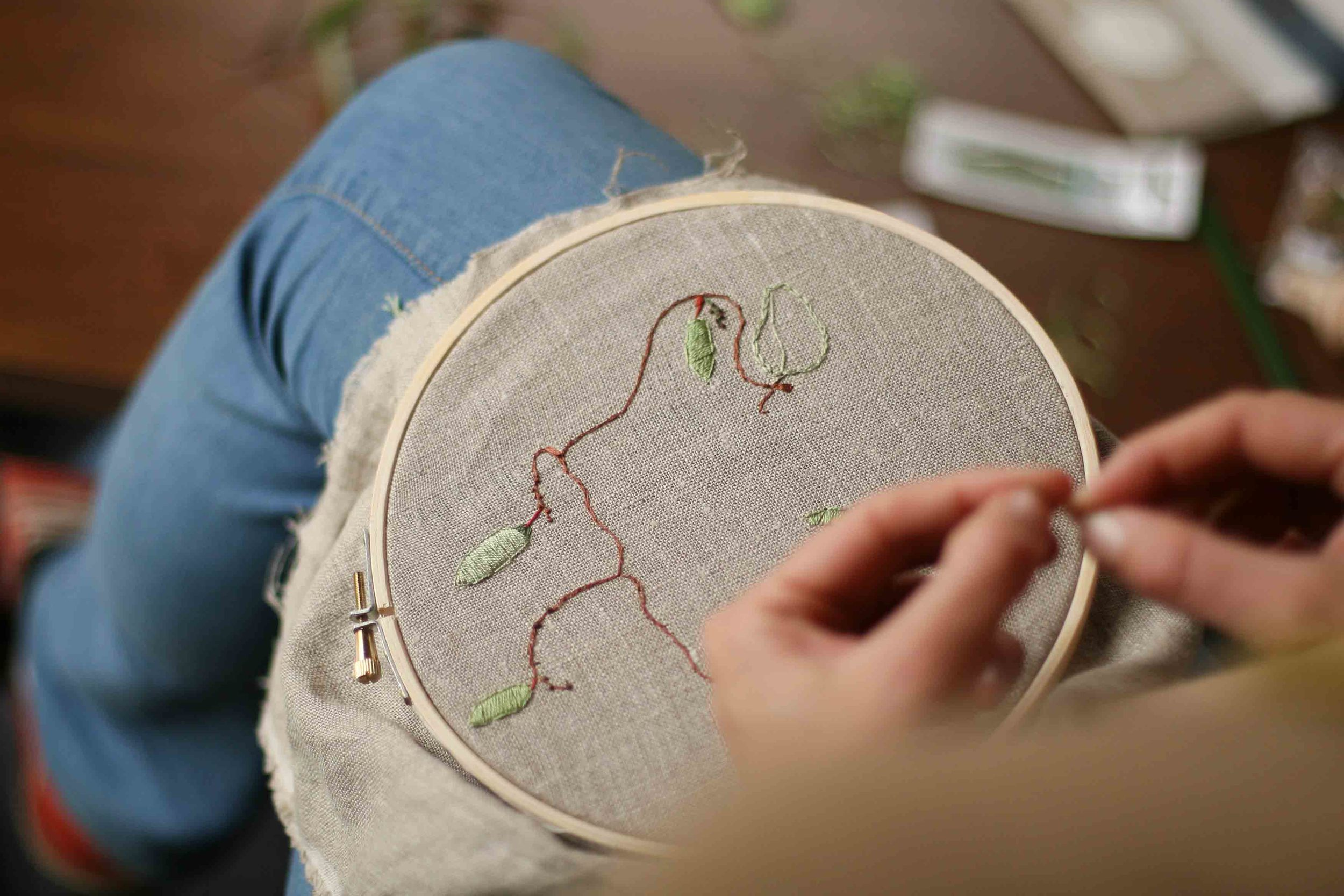 Embroidery from the Natural World taught by Melissa Wastney.