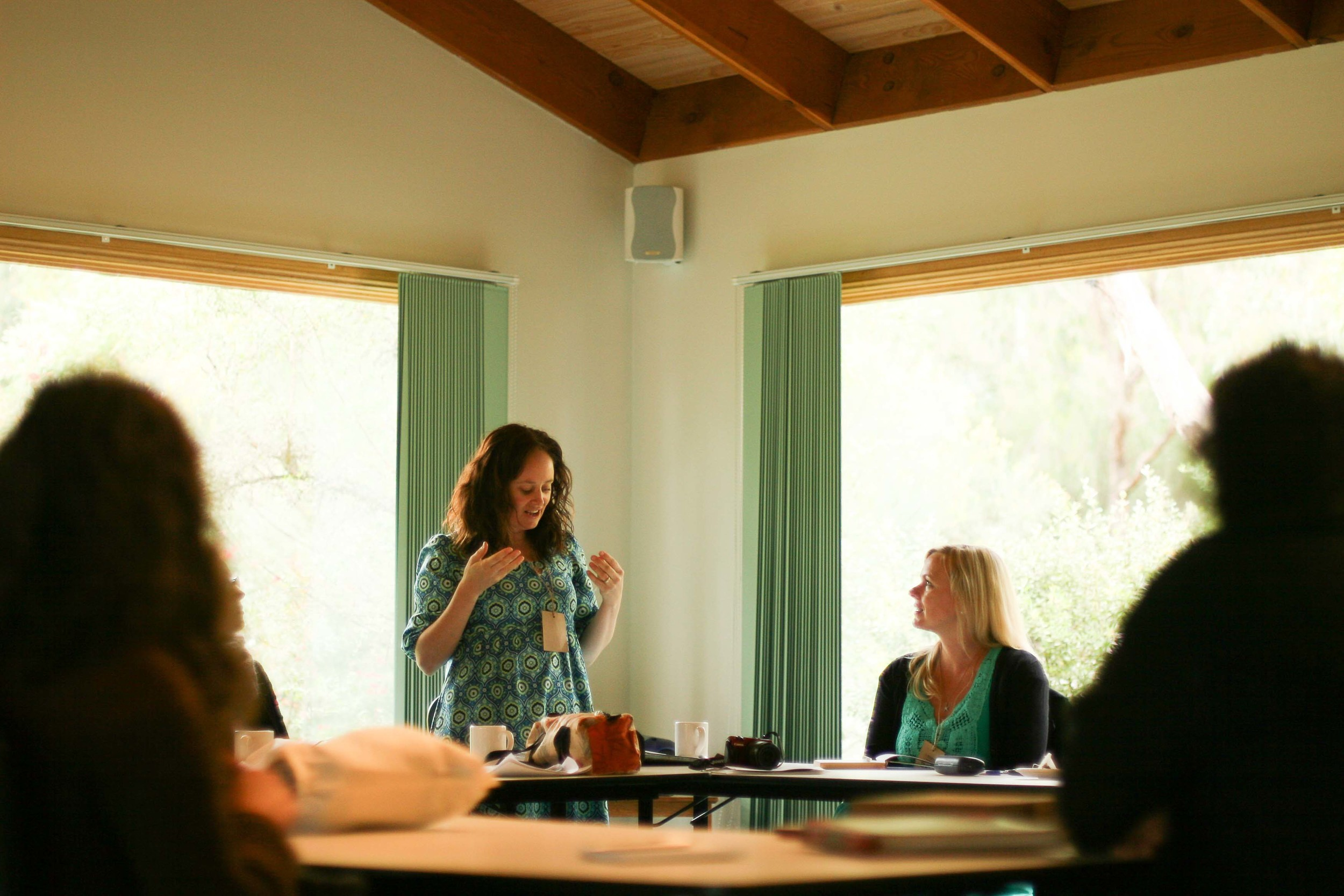 Georgie Hallam teaching Intro to Design. Photo by Felicia Semple