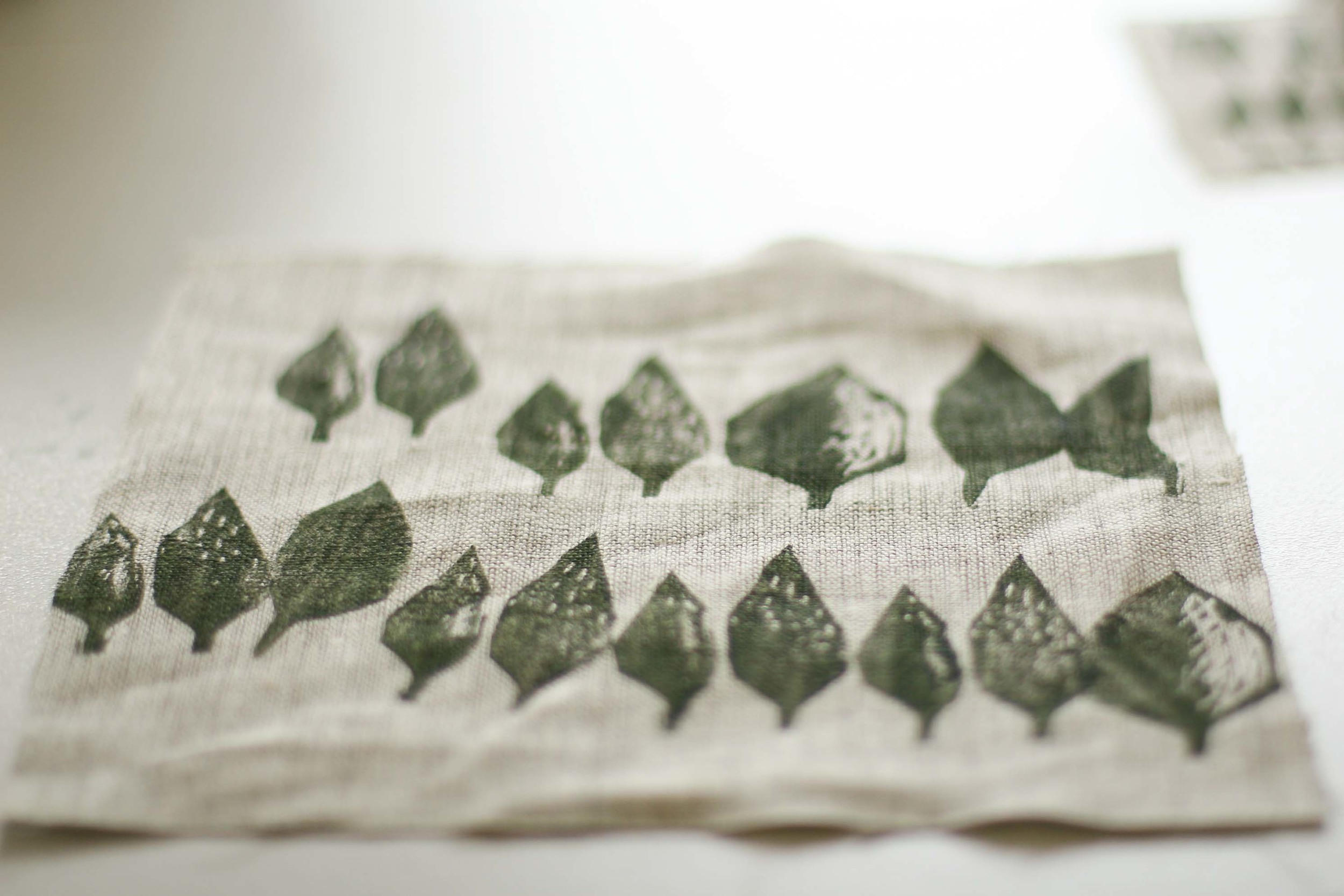 Block printing by Anna Farago. Photo by Felicia Semple