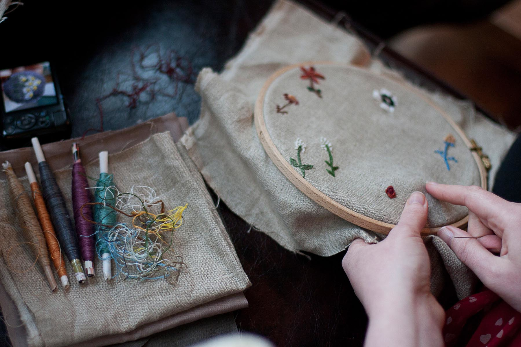 Embroidery from the Natural World. Photo by Siri Hayes