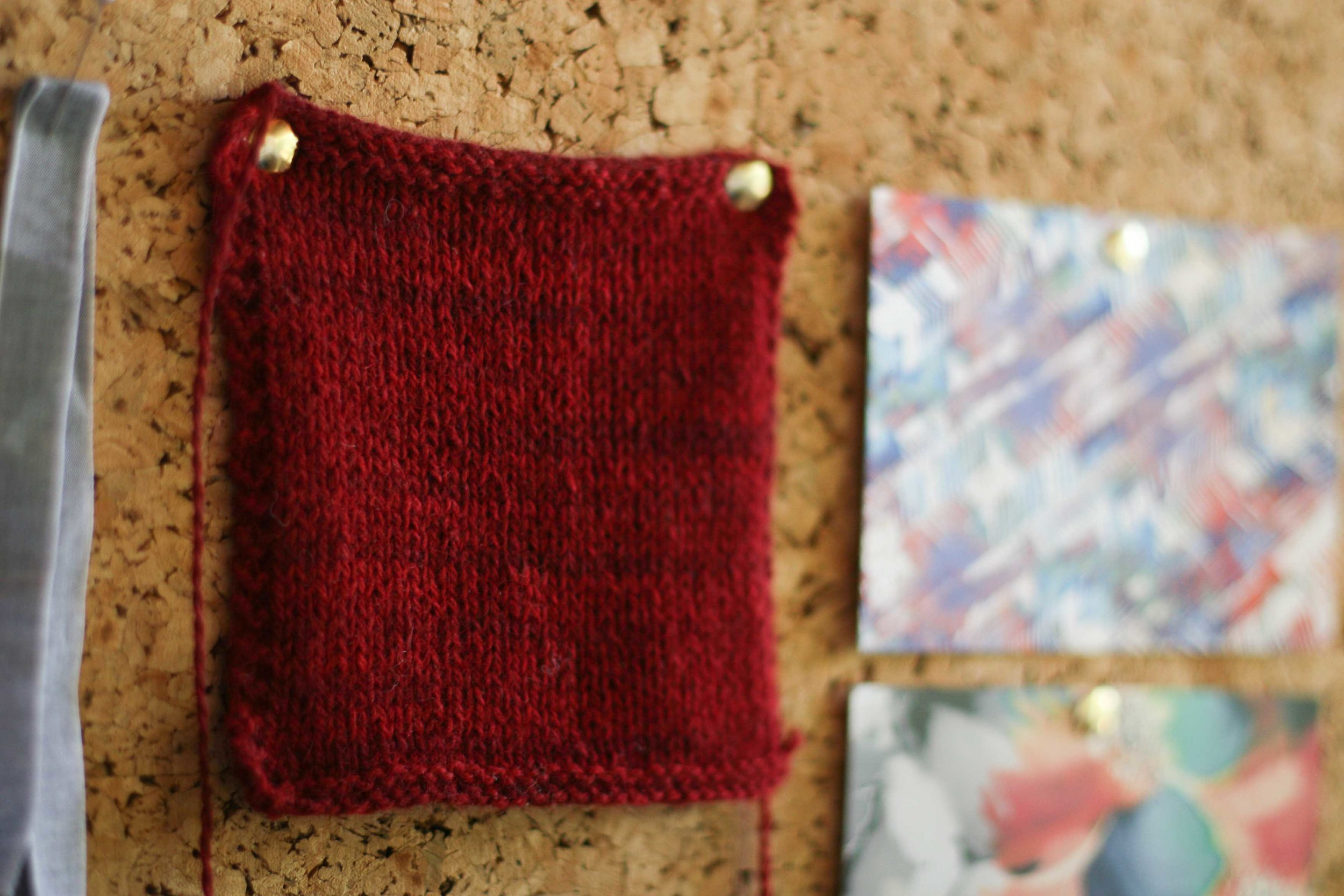 My cardigan swatch in beautiful  Shilasdair DK . Colour is natural dyed with Hawthorn.