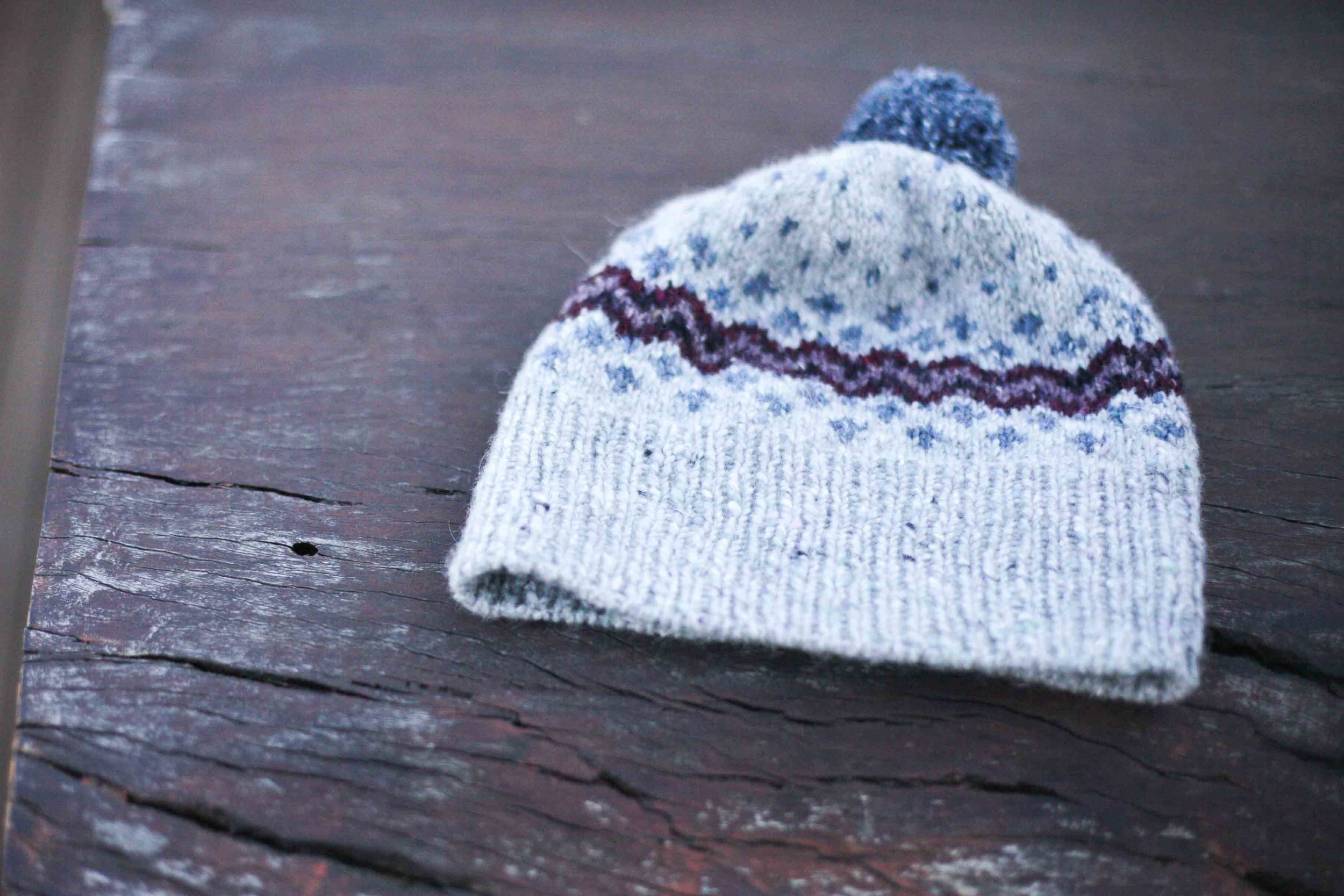 Sample hat from Jule's colour work class.
