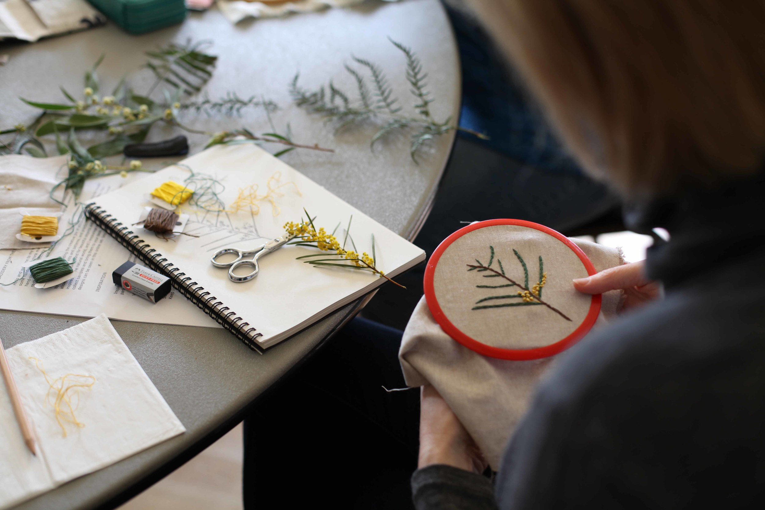 Embroidery with Melissa
