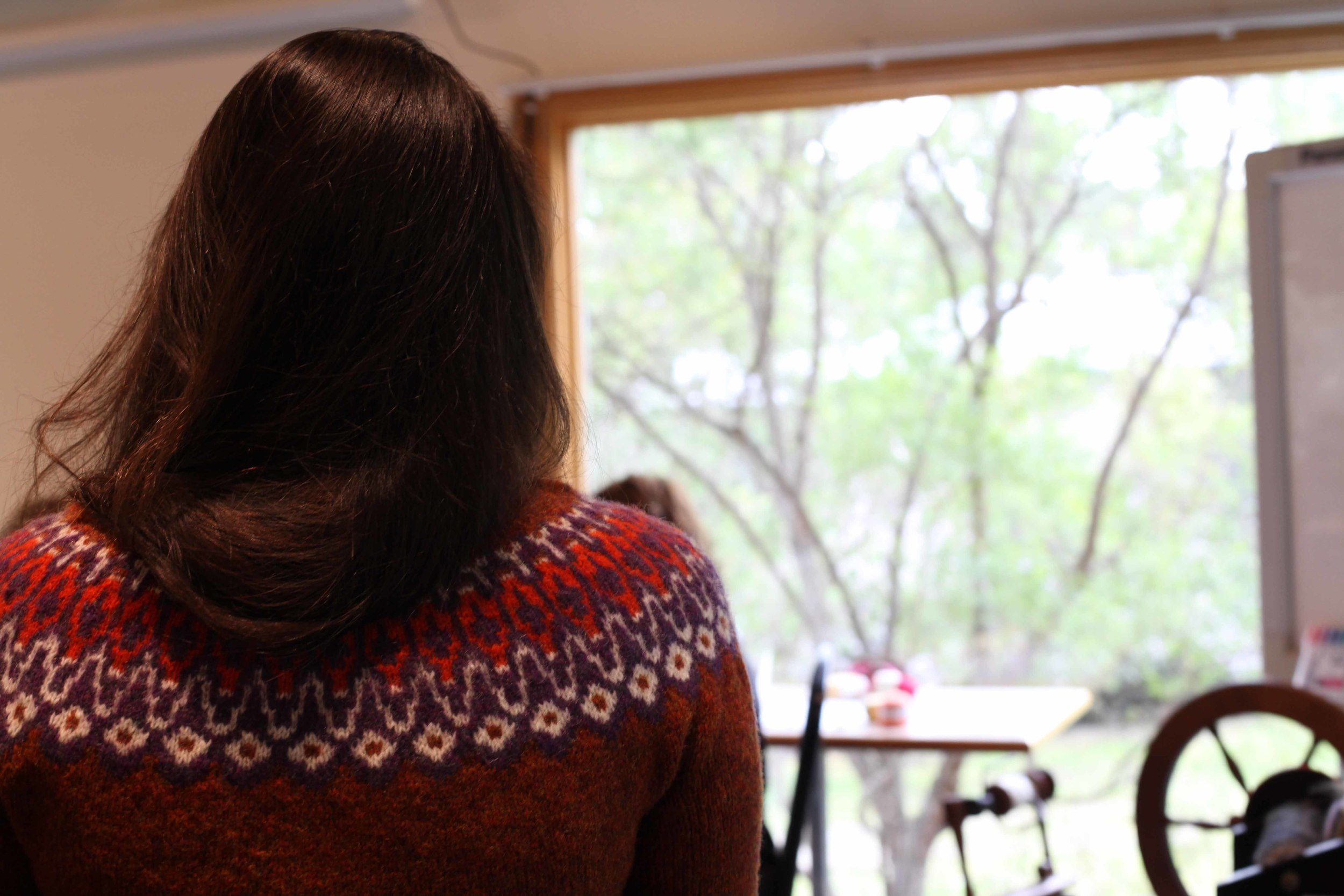 Danielle's gorgeous sweater.
