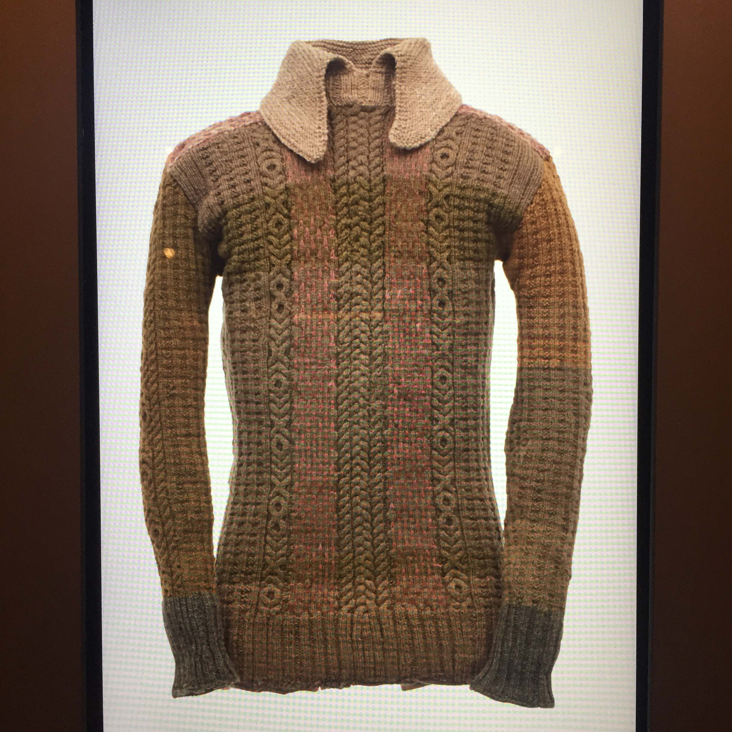 Knitted by Sergeant Duncan Carseldine - at the Australian War Memorial.