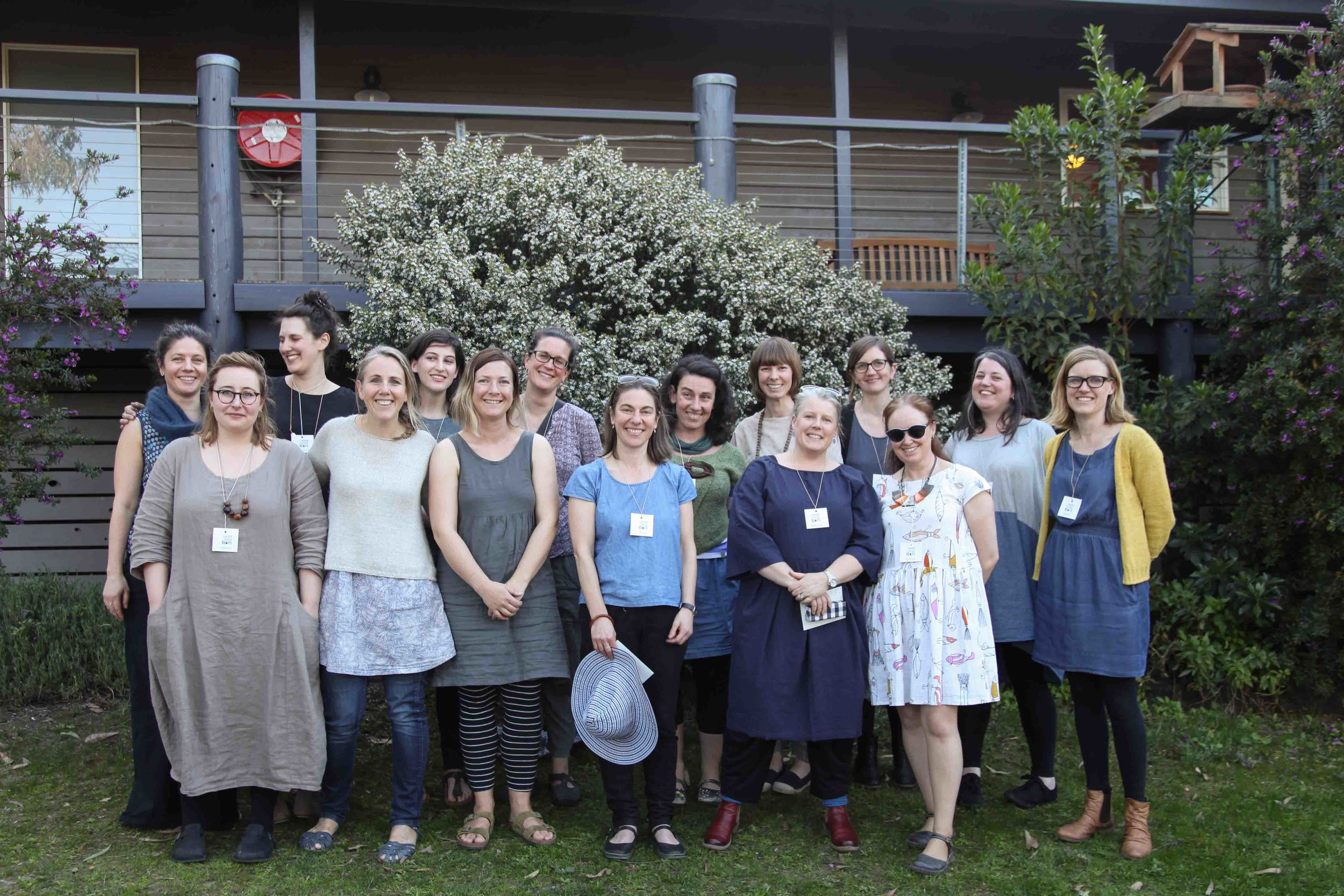 Teachers and us from last year's retreat. Look at all that handmade goodness! And happy faces. x