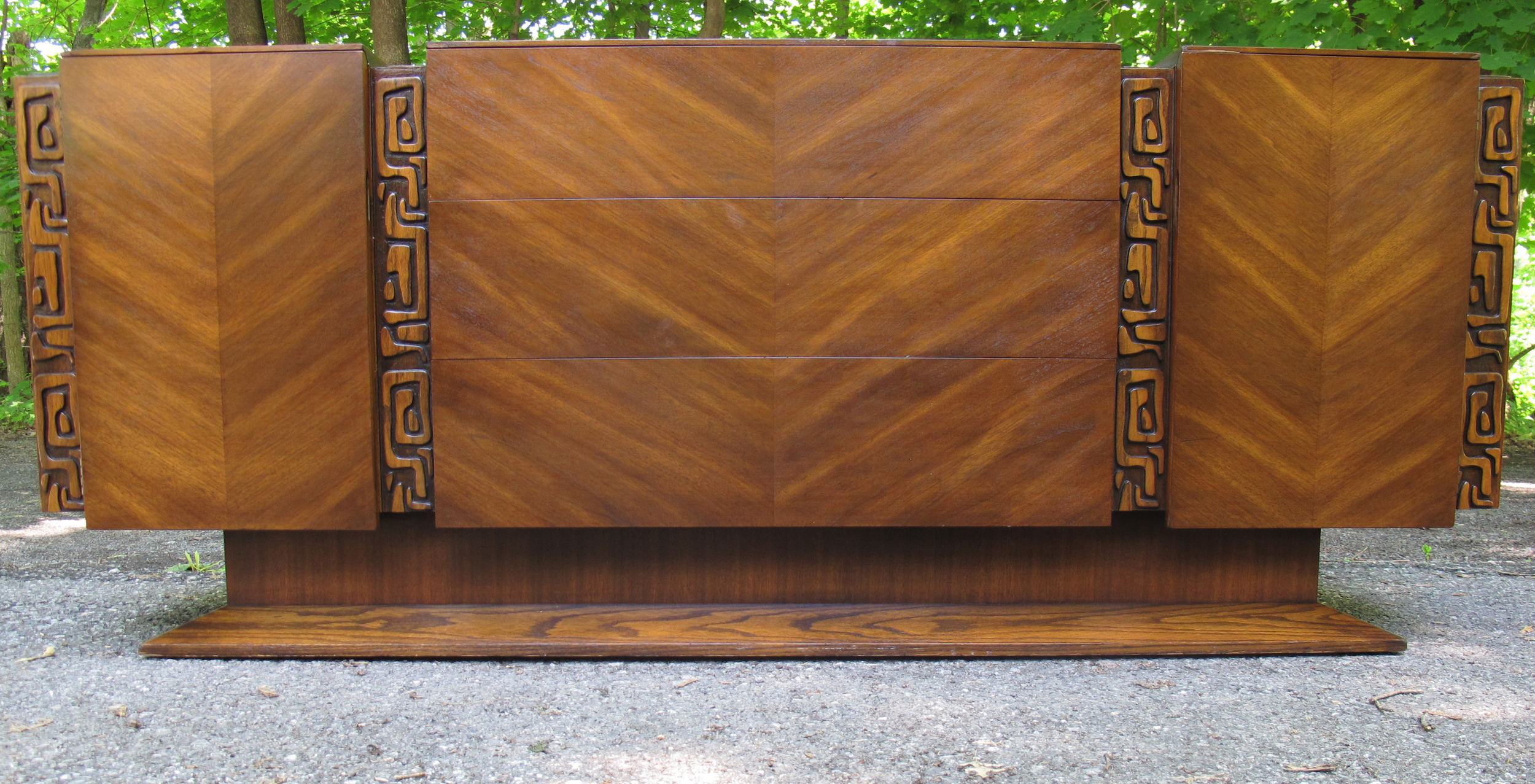 BRUTALIST STYLE DRESSER BY UNITED