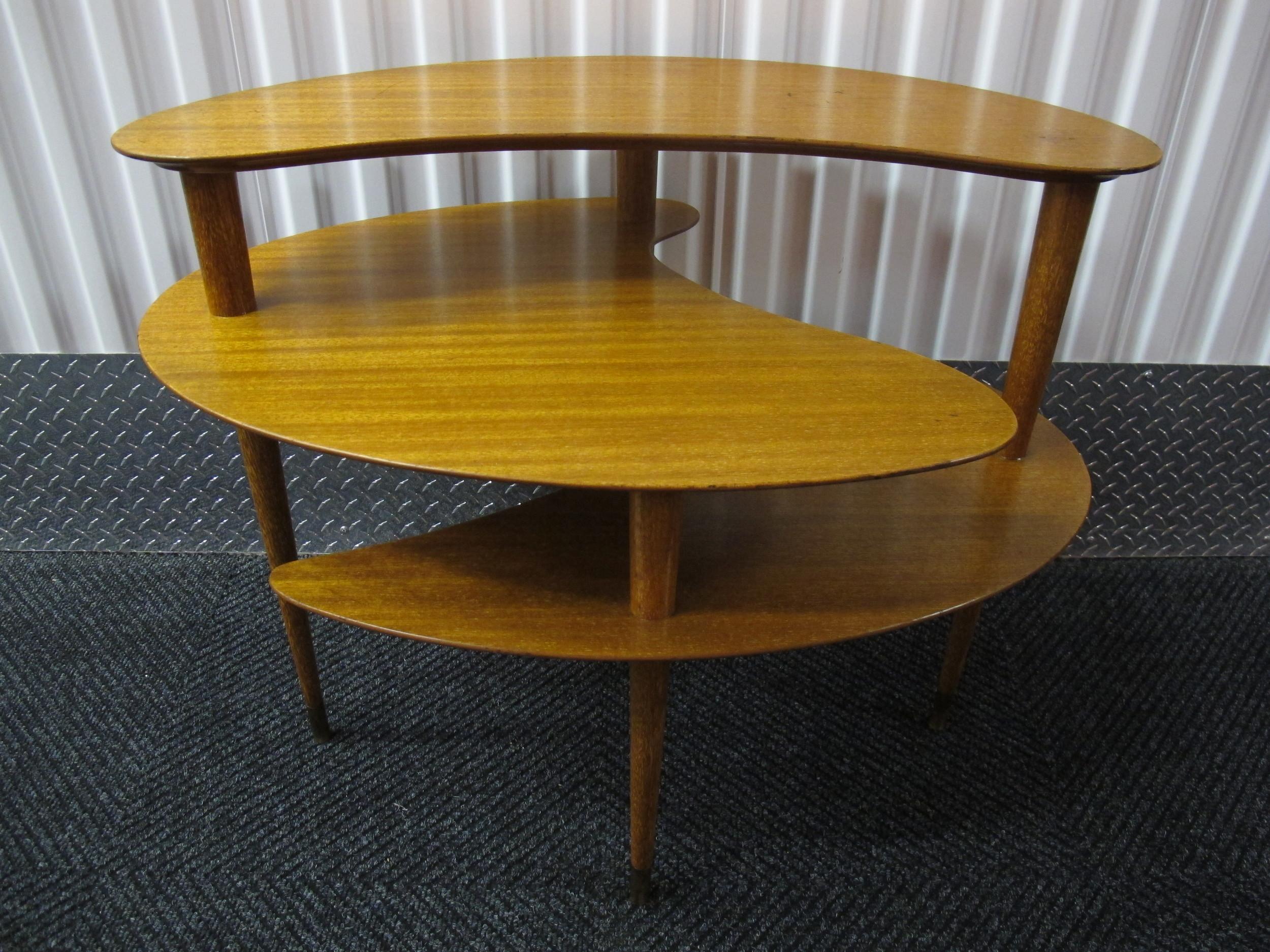 BROWN SALTMAN AMOEBA SIDE TABLE