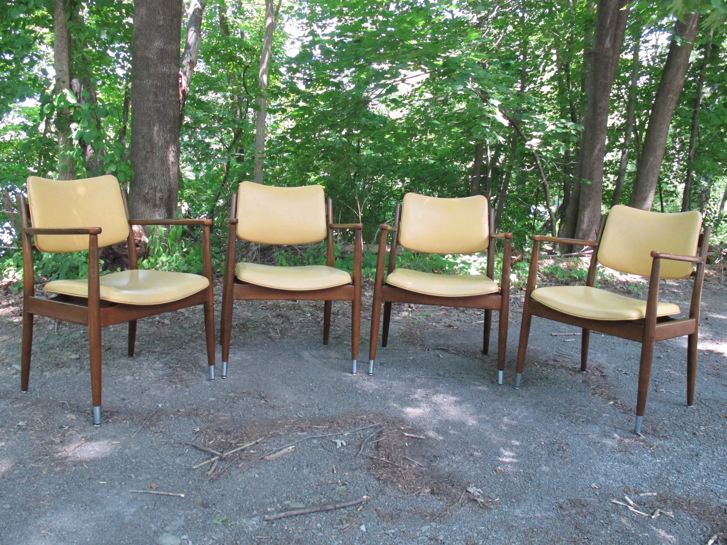 SET OF DANISH MODERN STYLE ARMCHAIRS