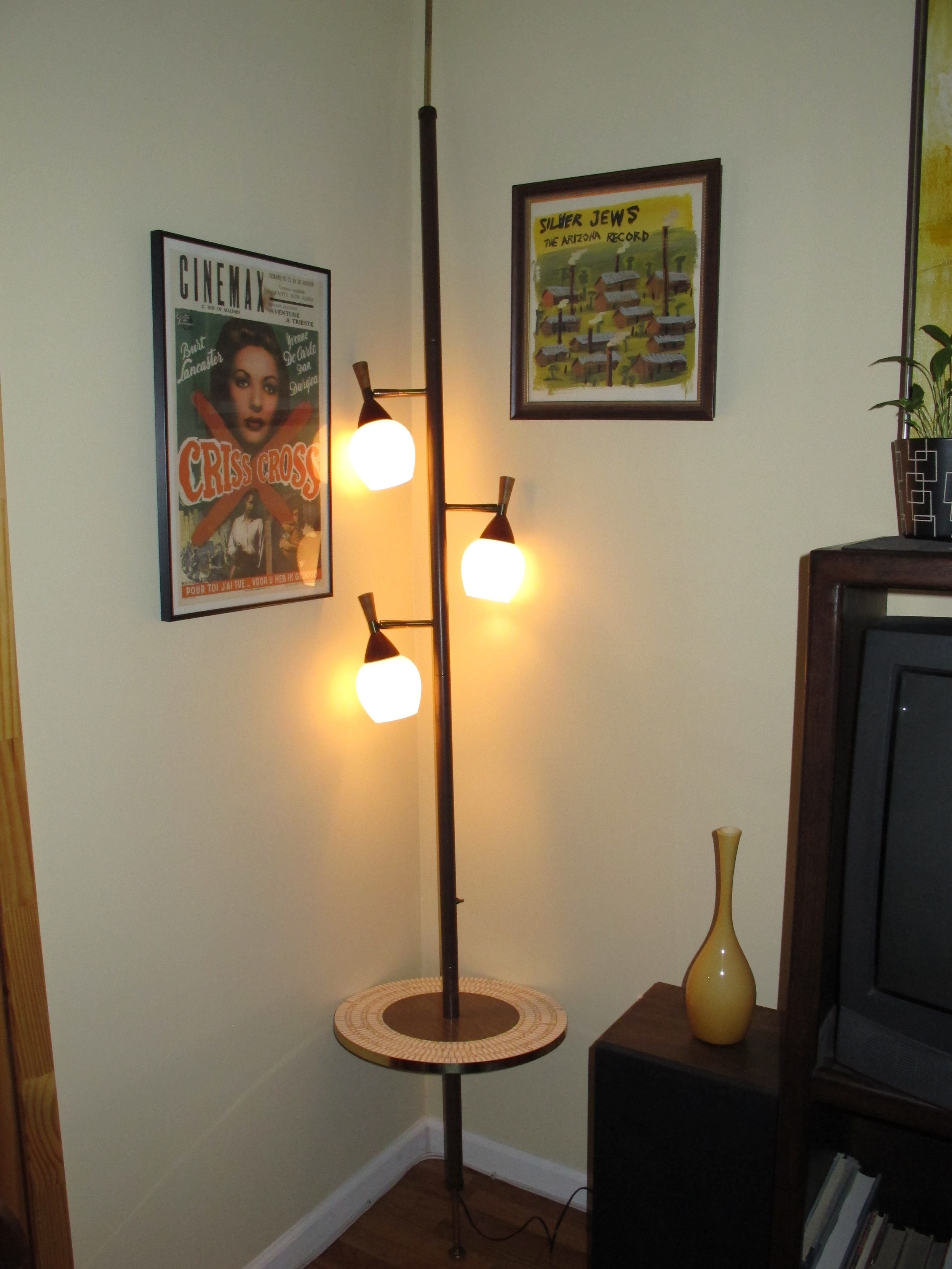 MID CENTURY EXTENSION LAMP TABLE