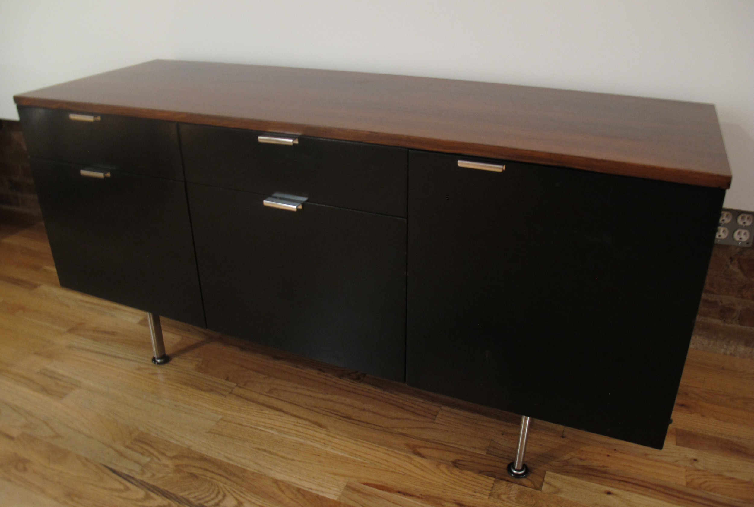 HERMAN MILLER ROSEWOOD & EBONY CABINET BY GEORGE NELSON