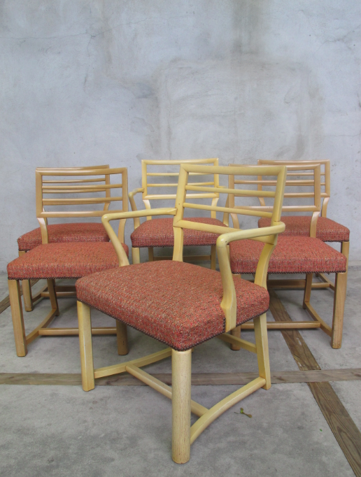 BLONDE DINING CHAIRS AFTER EDWARD WORMLEY FOR DUNBAR