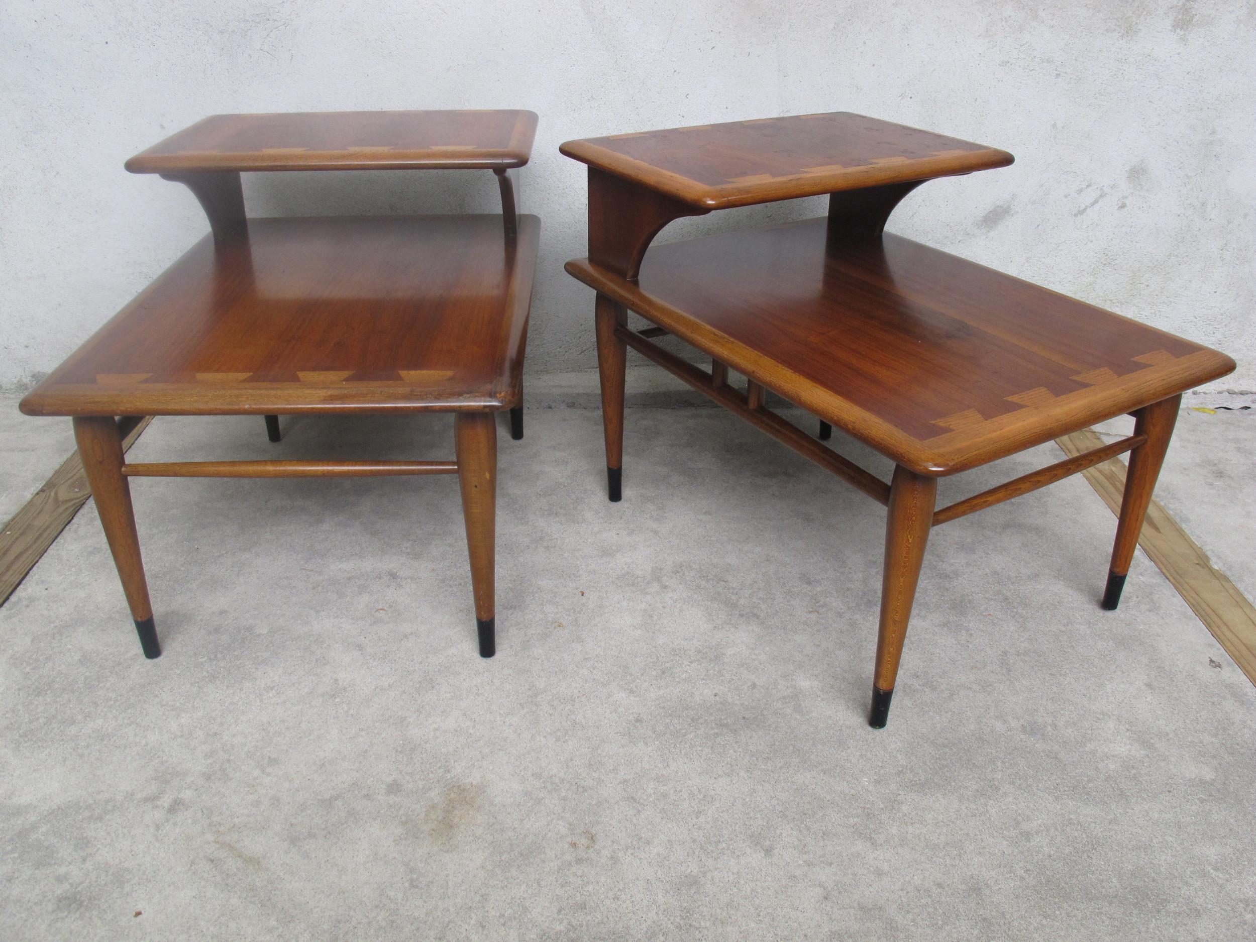 MID CENTURY LANE ACCLAIM END TABLES