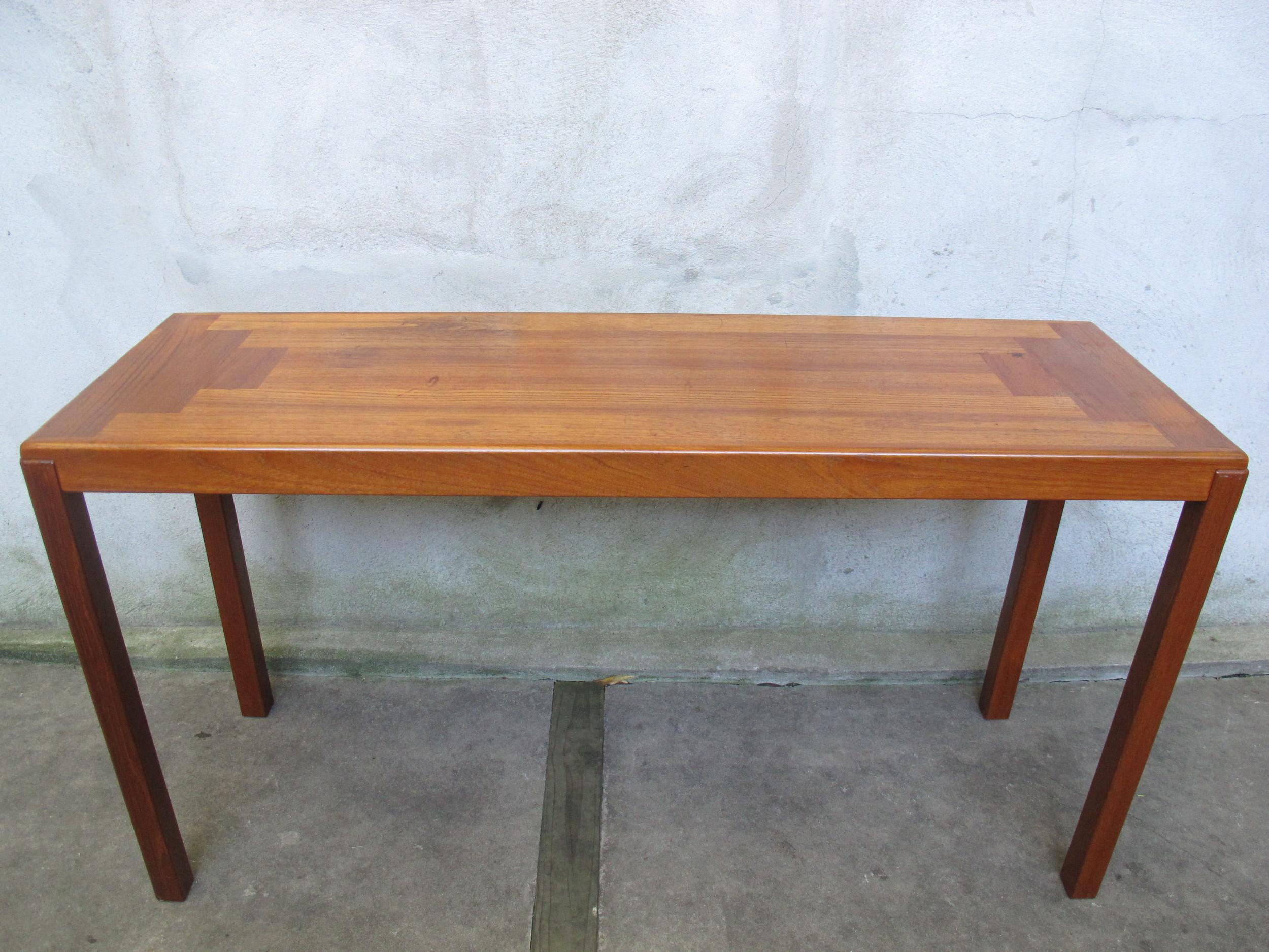 DANISH MODERN TEAK CONSOLE TABLE BY VEJLE STOLE