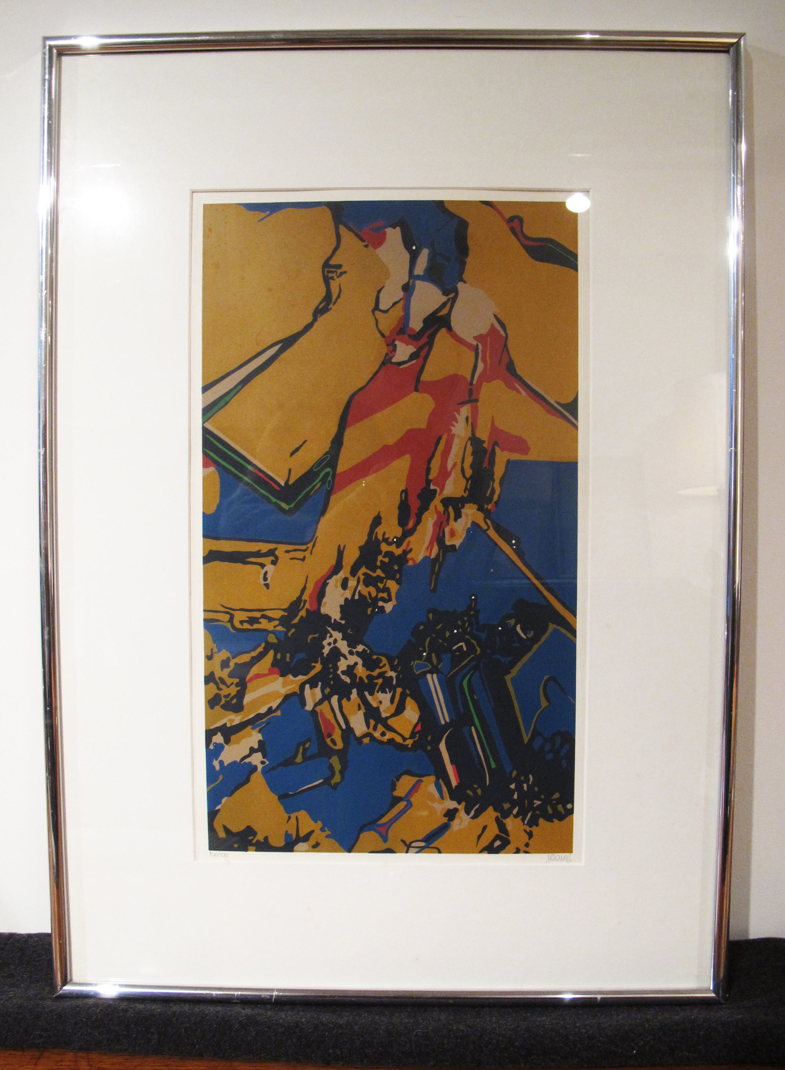 COLORFUL SIGNED AND NUMBERED PSYCHEDELIC POP-ART SILKSCREEN PRINT