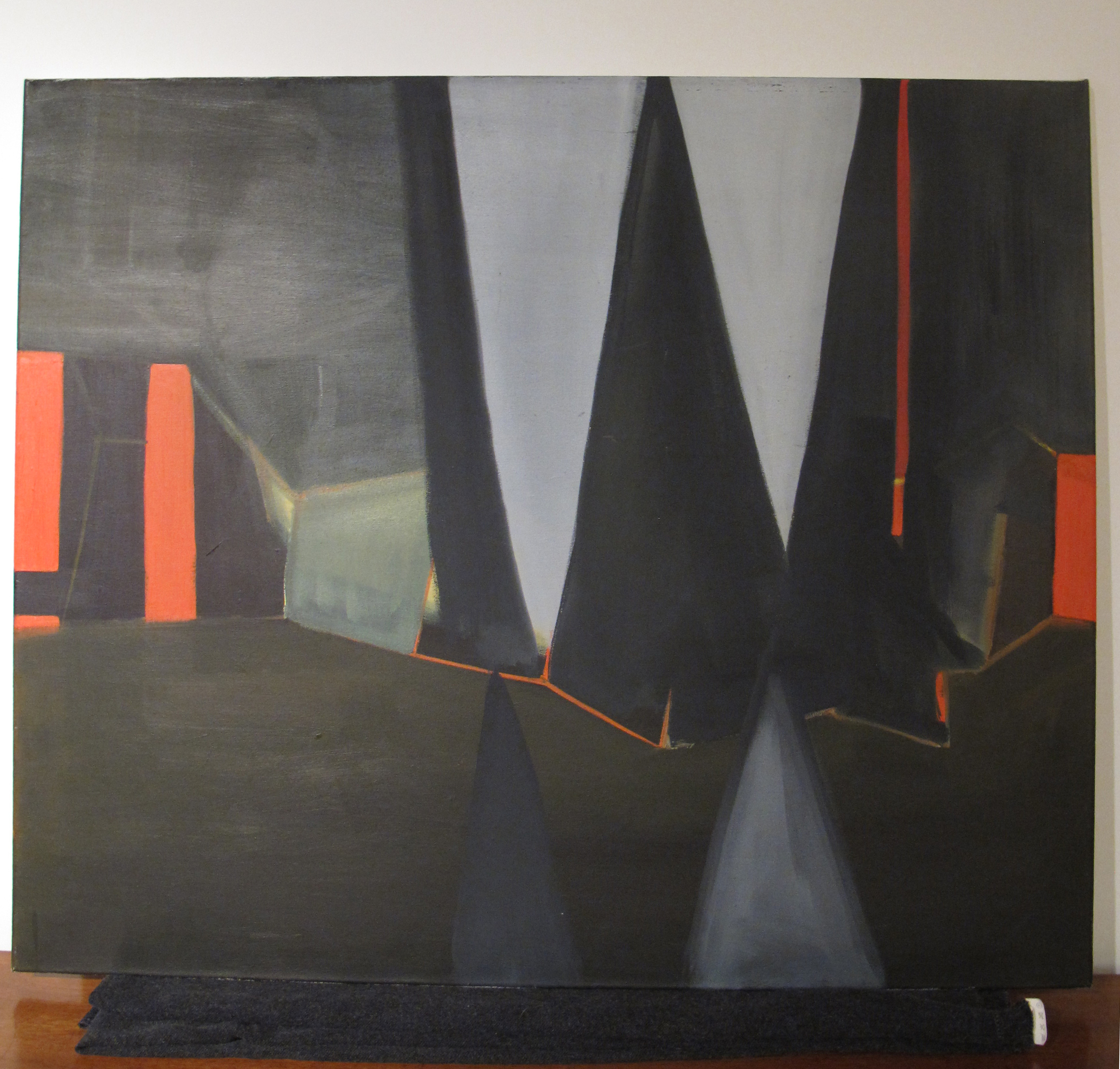 MODERN GEOMETRIC ABSTRACT OIL PAINTING ON CANVAS