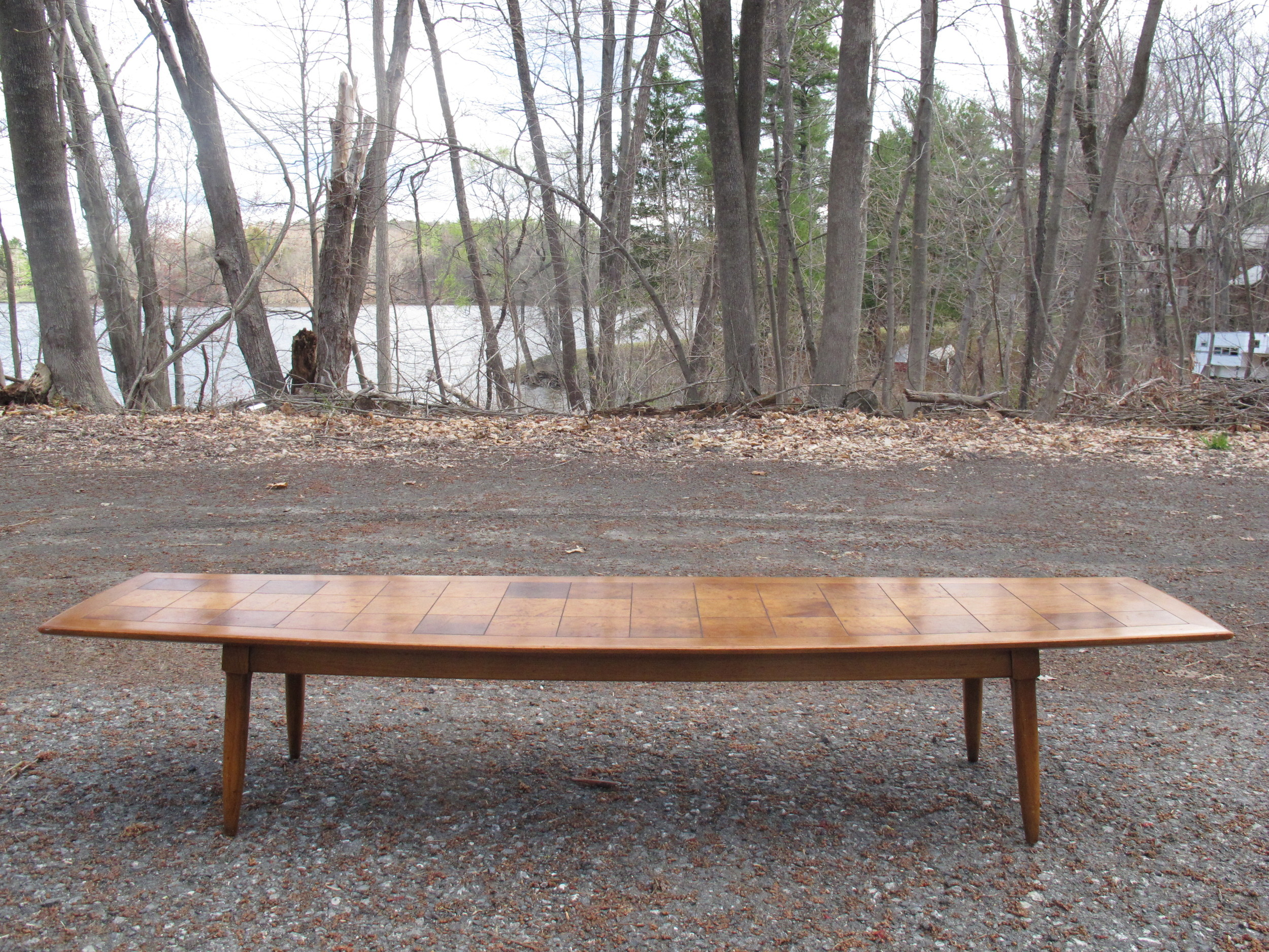 MID CENTURY SURFBOARD COFFEE TABLE BY TOMLINSON