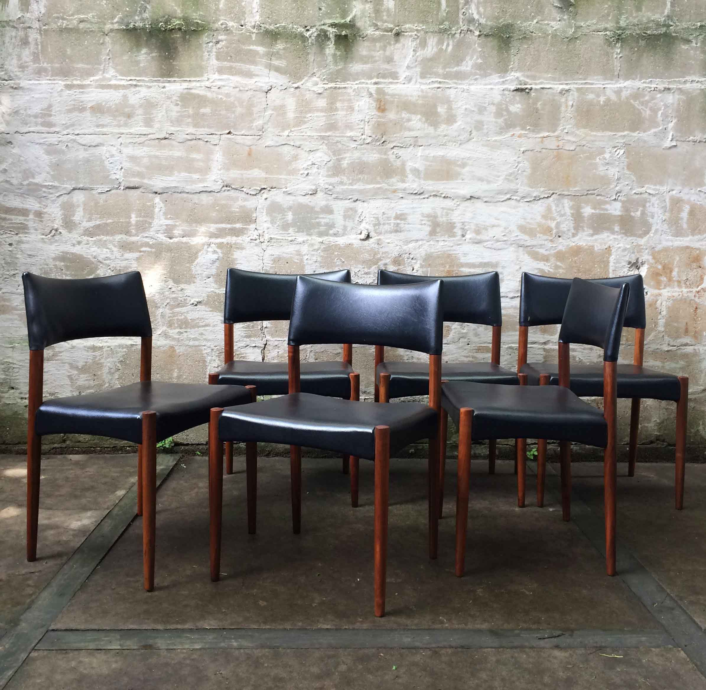 SET OF DANISH MODERN DINING CHAIRS BY SCHOU ANDERSEN