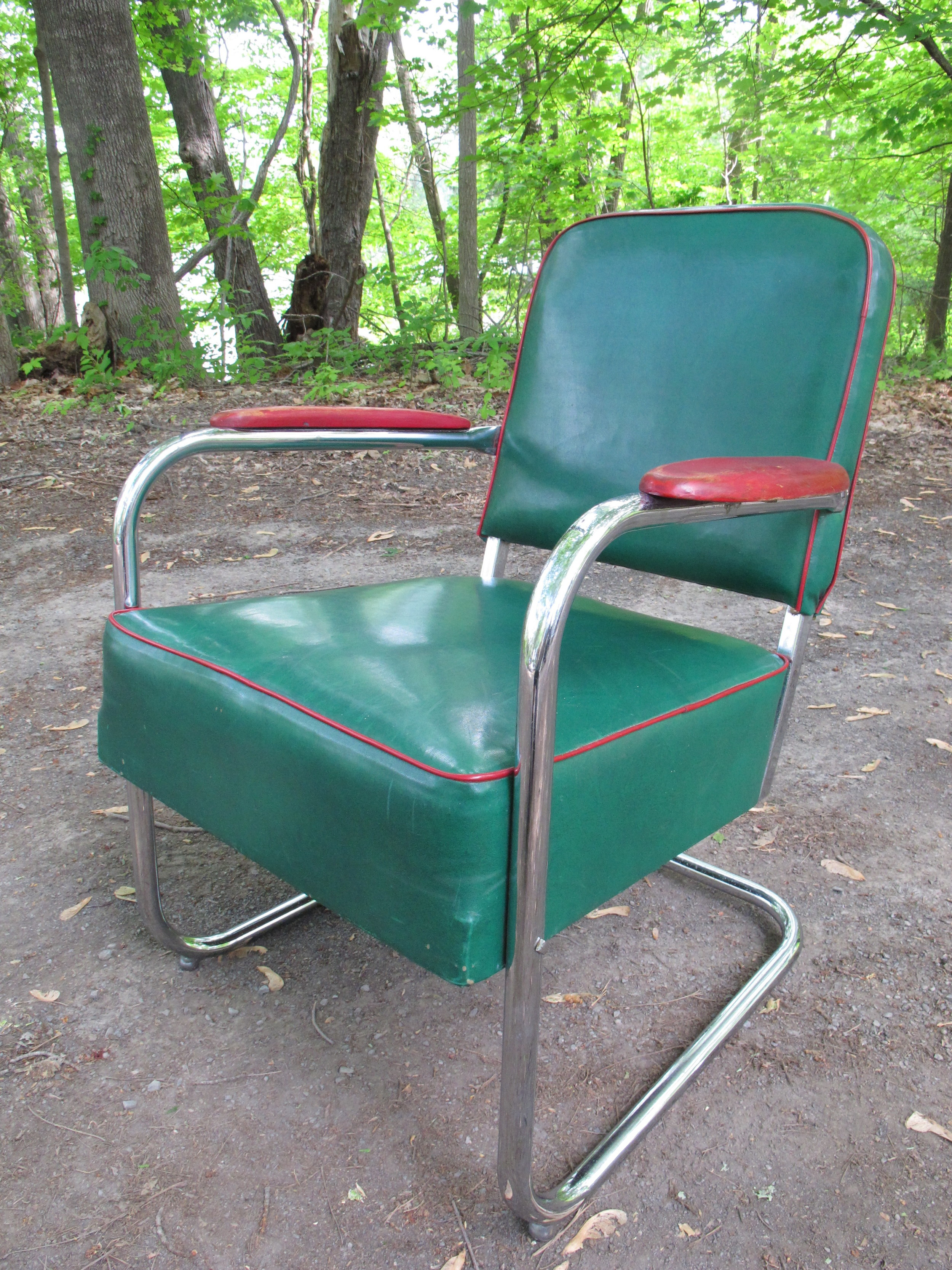 """DECO """"ROYAL CHROME"""" LOUNGE CHAIR BY LLOYD MANUFACTURING CO. AFTER KEM WEBER"""