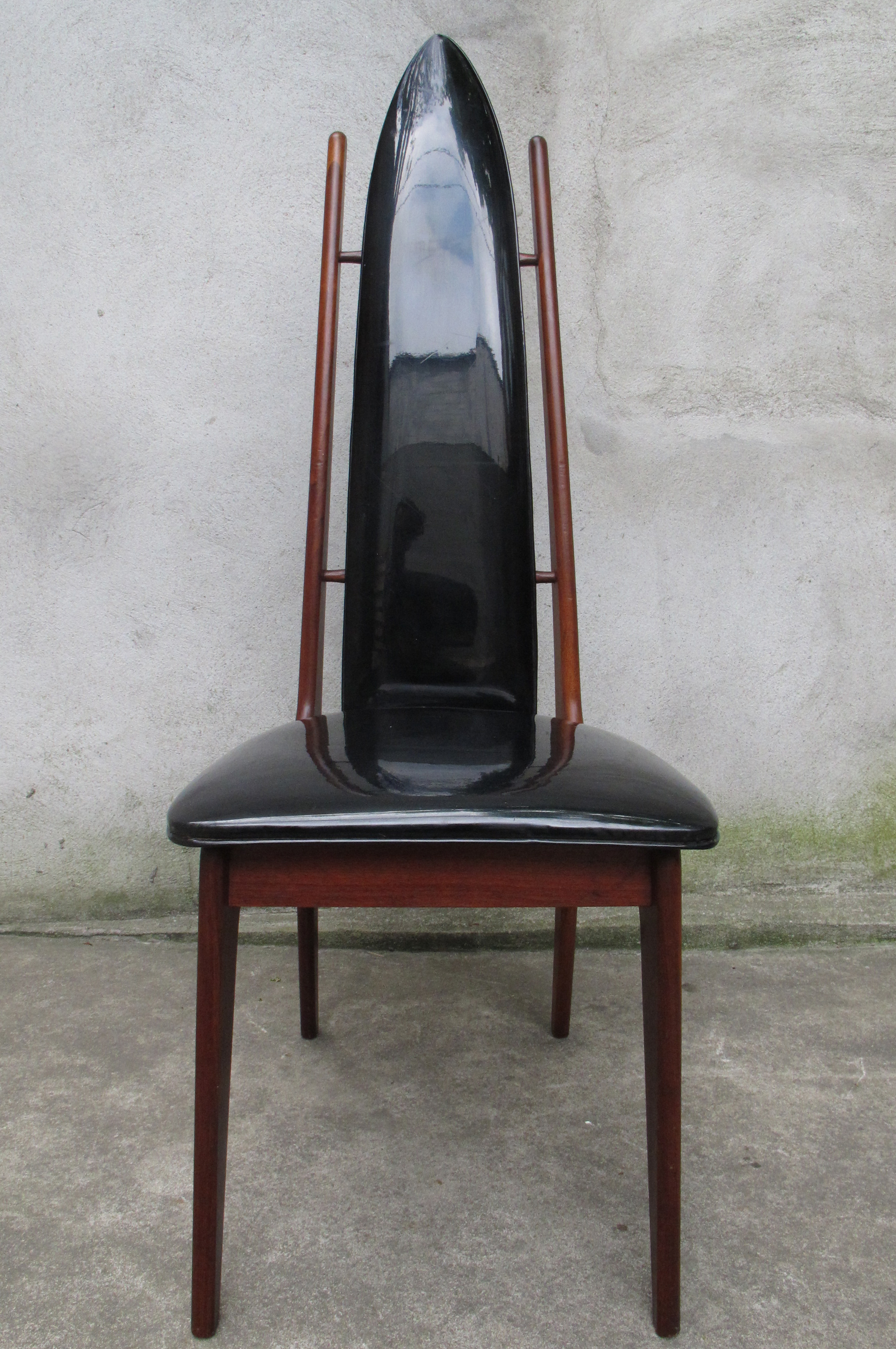 MID CENTURY HIGH BACK WALNUT CHAIR BY RICHBILT