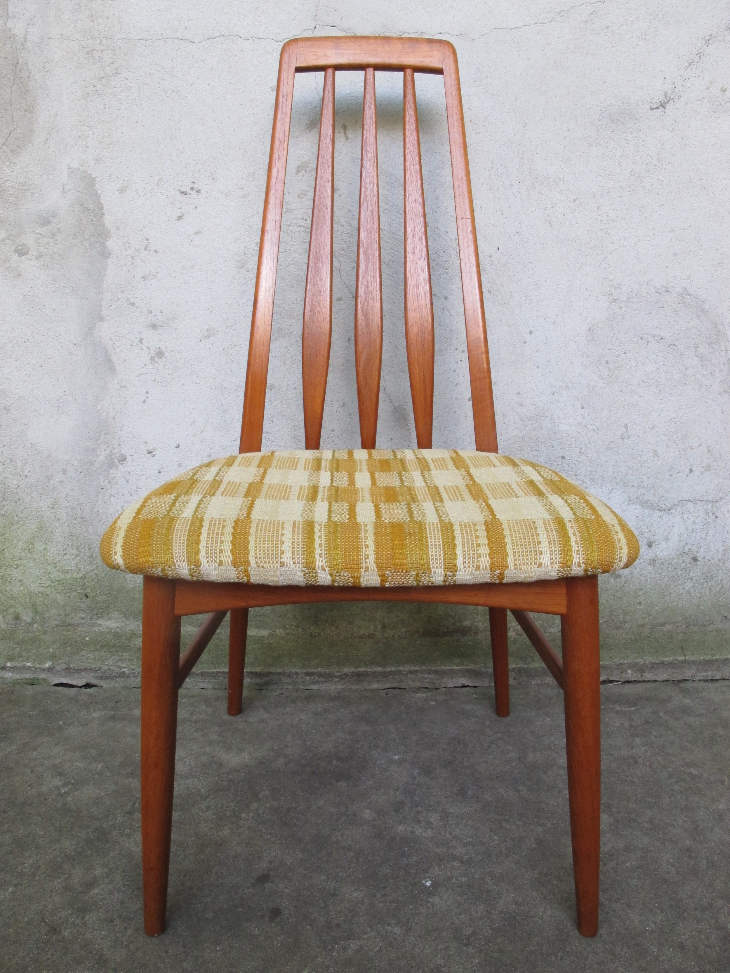 DANISH NIELS KOEFOED EVA TEAK SLAT BACK DINING CHAIR BY HORNSLET