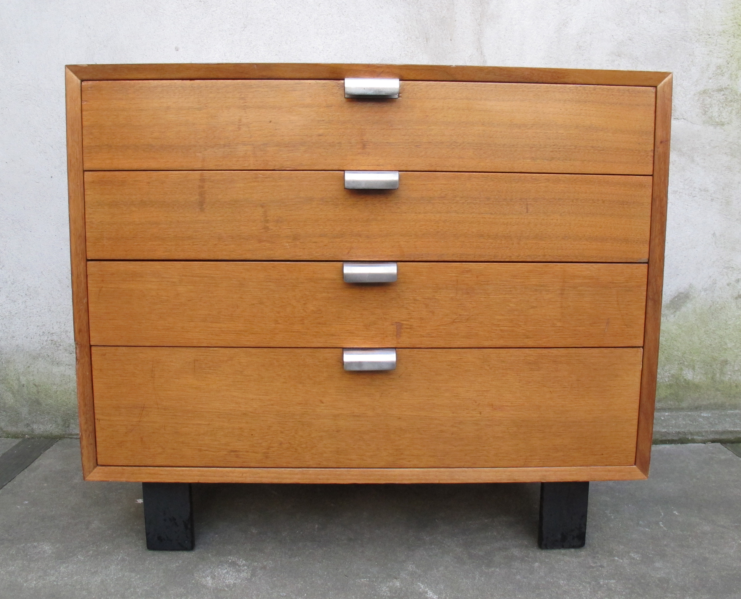 MID CENTURY OAK CABINET BY GEORGE NELSON FOR HERMAN MILLER