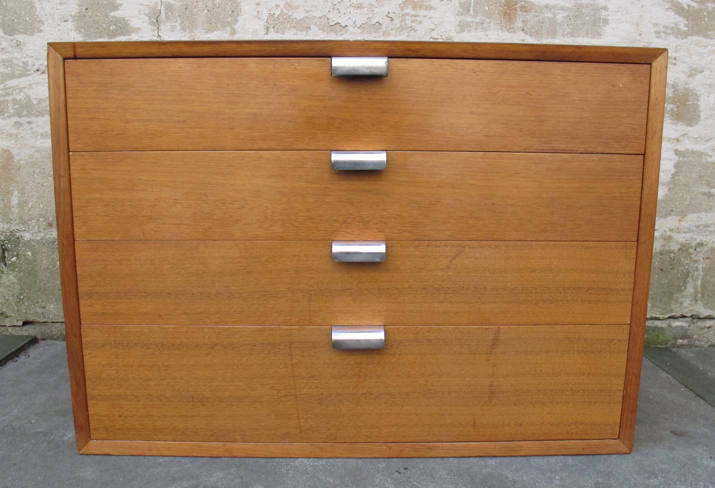 MID CENTURY FOUR DRAWER CHEST BY GEORGE MELSON FOR HERMAN MILLER