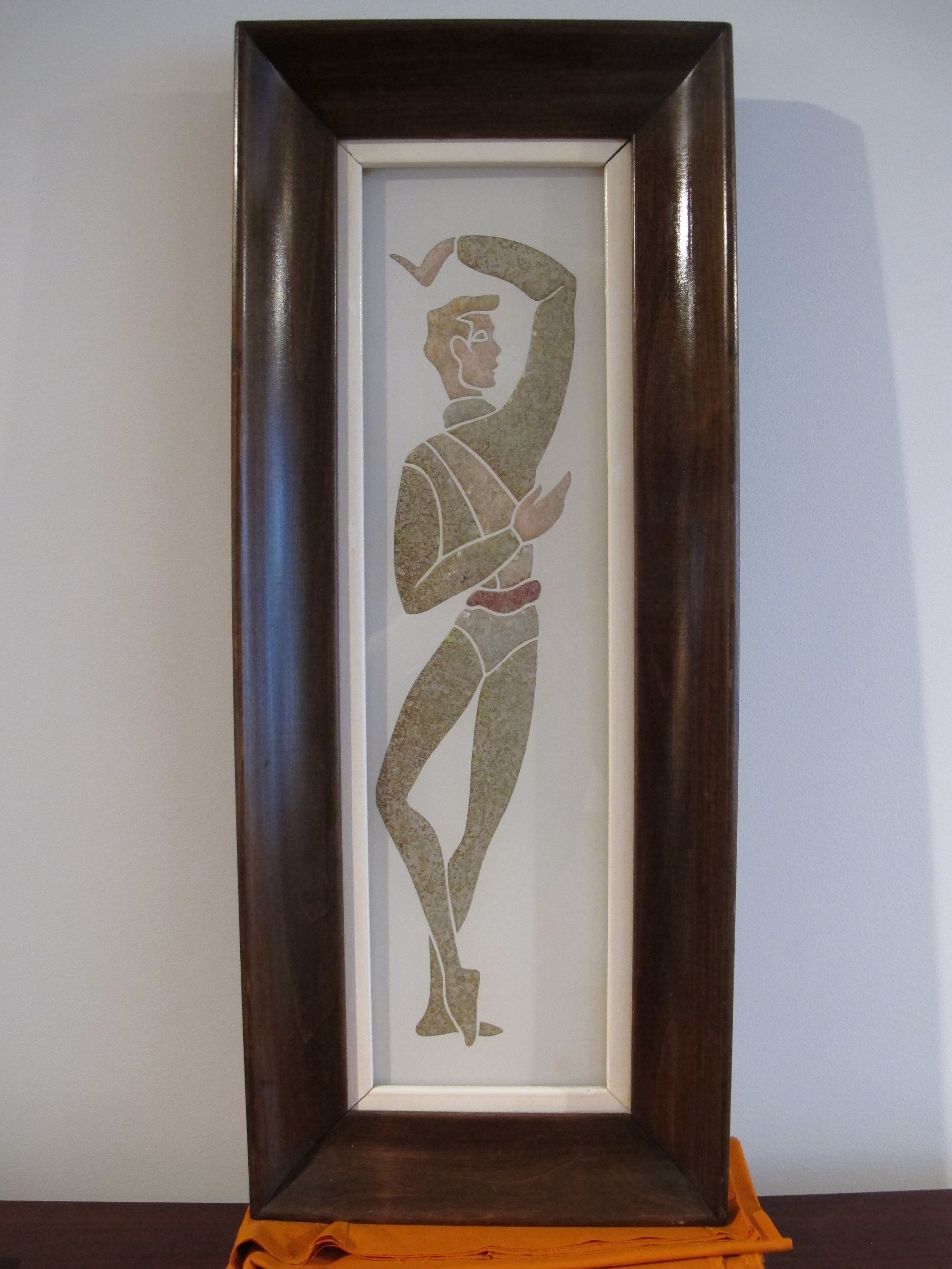 MID CENTURY PEBBLE GLASS MOSIAC DANCER