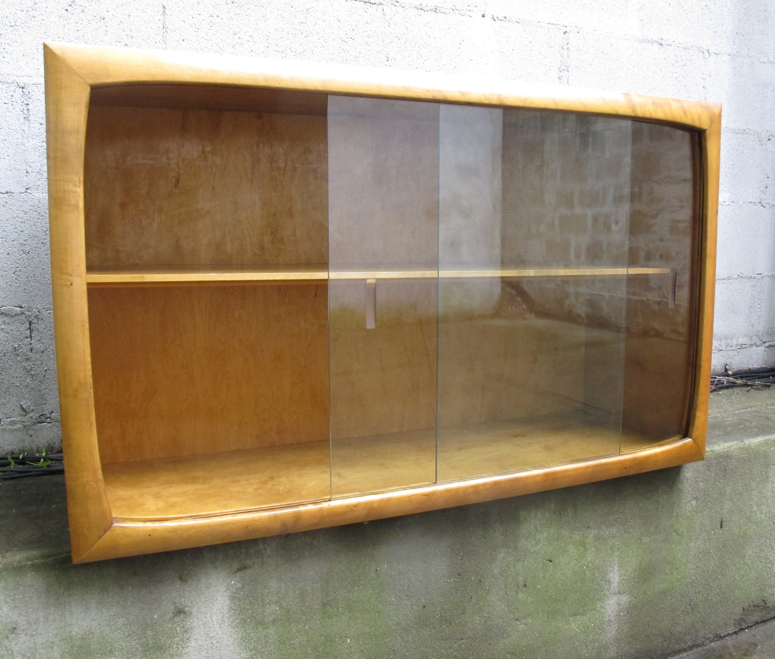 SWEDISH MODERN GLASS CABINET BY EDMOND SPENCE
