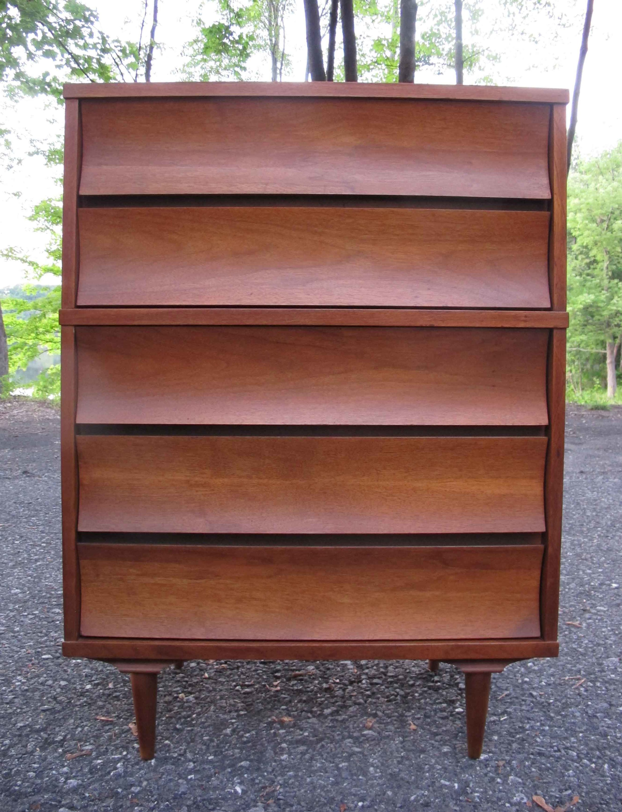 MID CENTURY TALL DRESSER BY JOHNSON CARPER