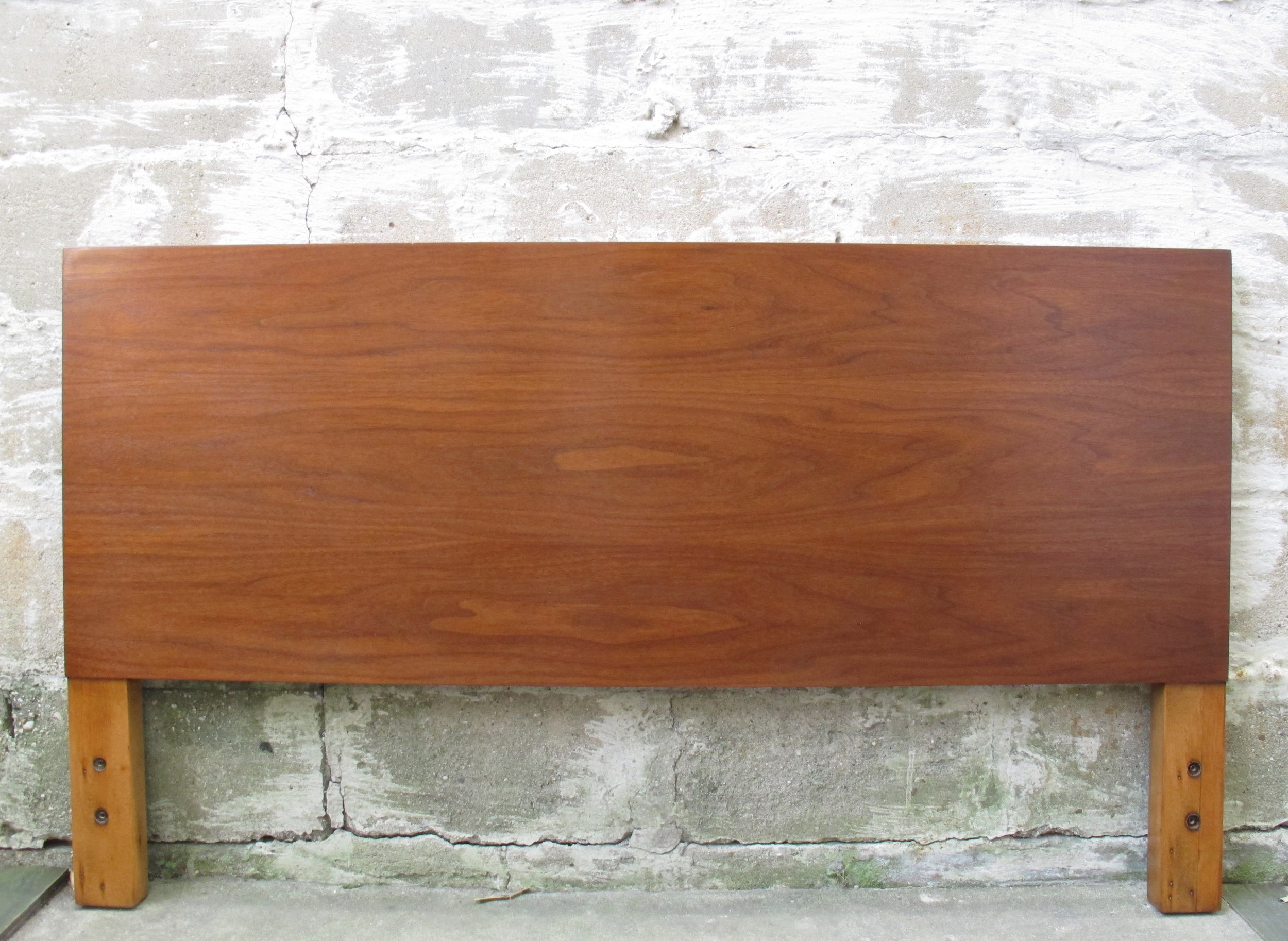 GEORGE NELSON WALNUT HEADBOARD BY HERMAN MILLER