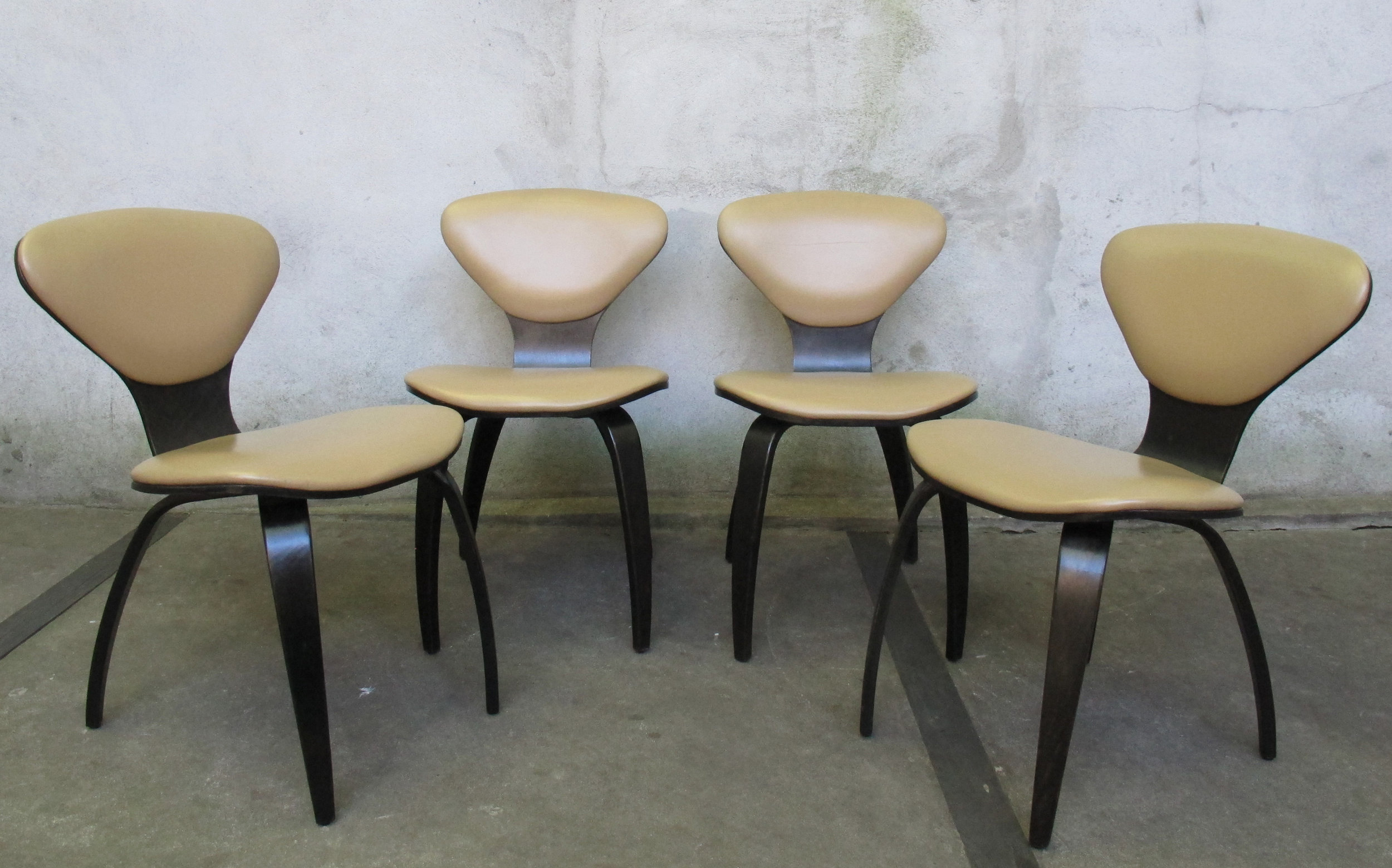 SET OF NORMAN CHERNER DINING CHAIRS BY PLYCRAFT