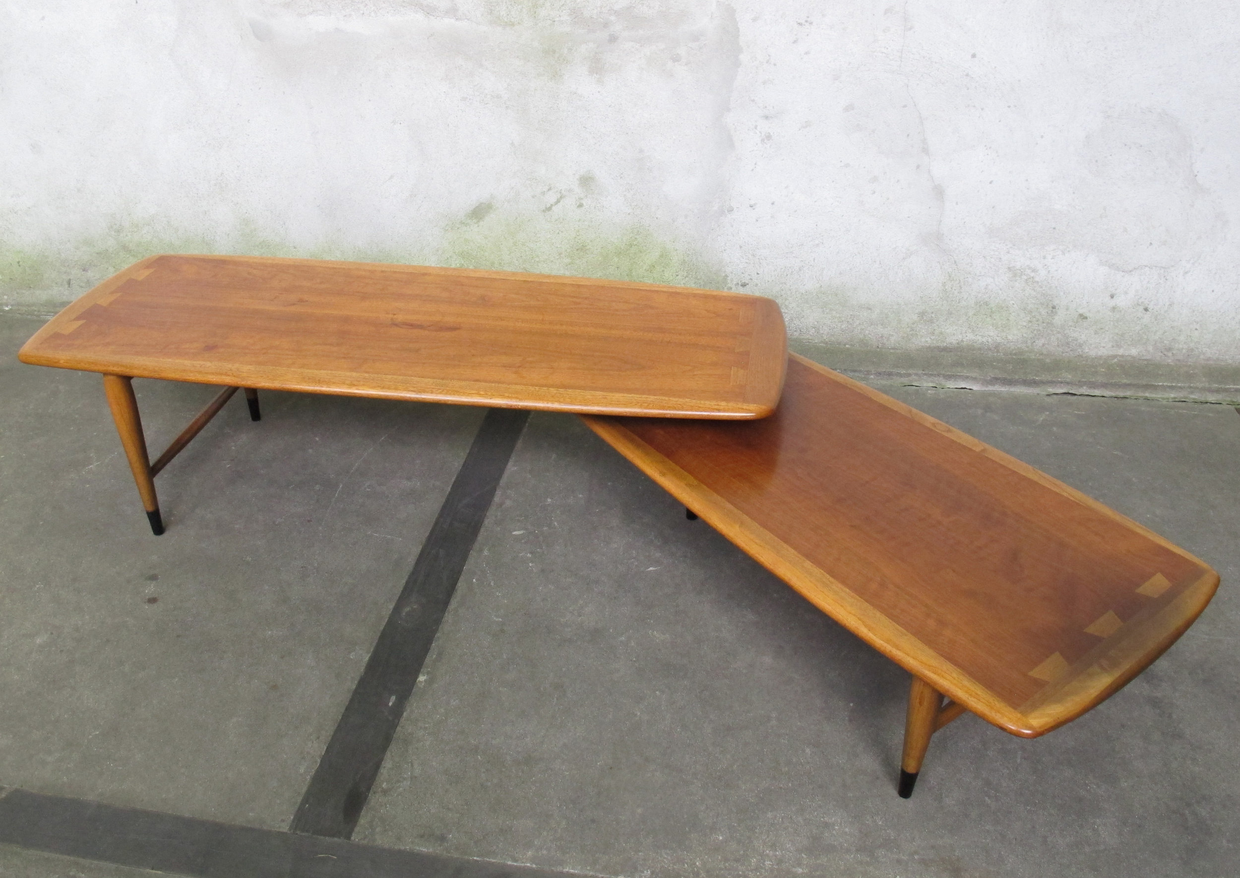 MID CENTURY LANE ACCLAIM BOOMERANG COFFEE TABLE BY ANDRE BUS