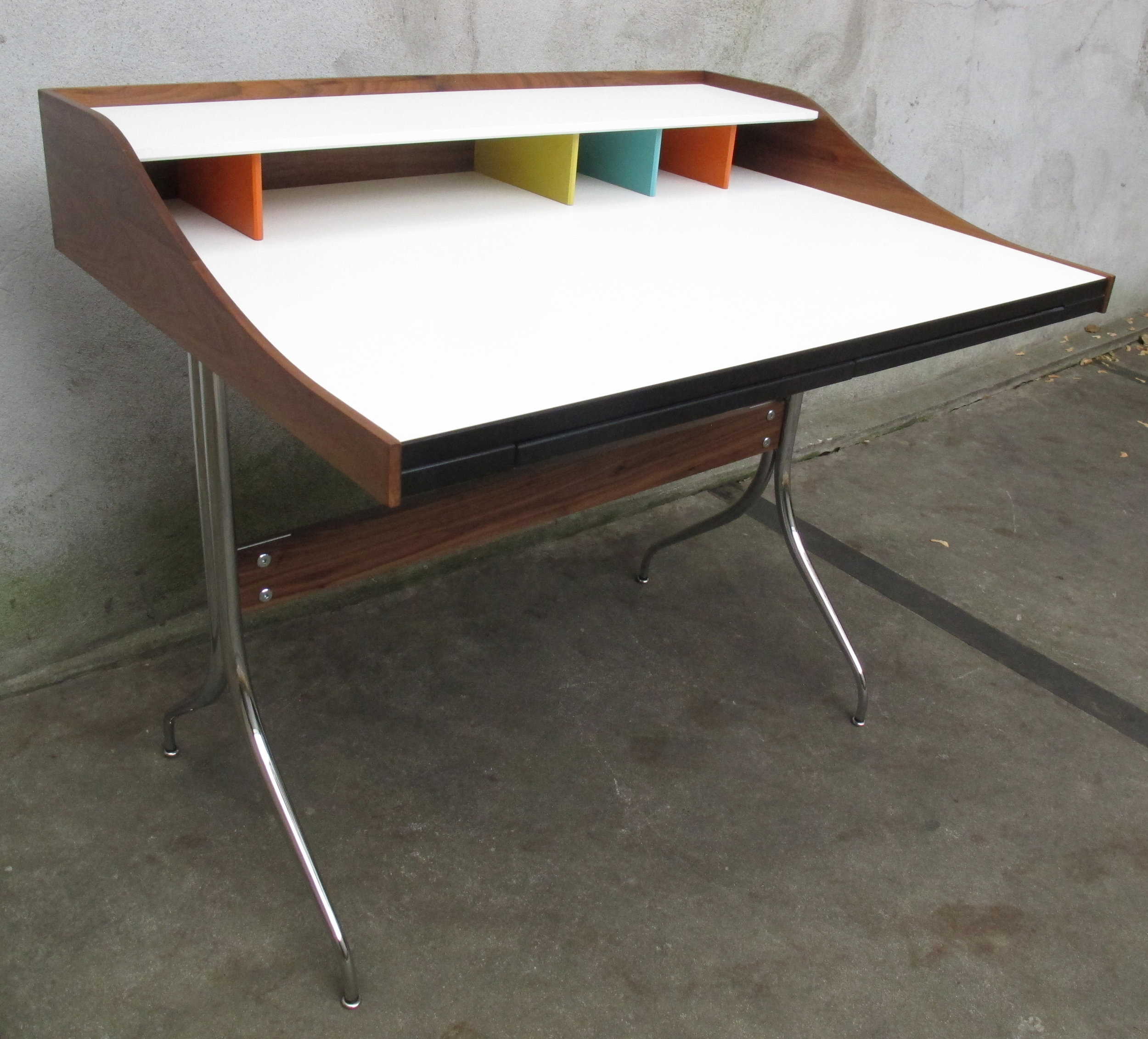 MID CENTURY GEORGE NELSON SWAG LEG DESK BY HERMAN MILLER