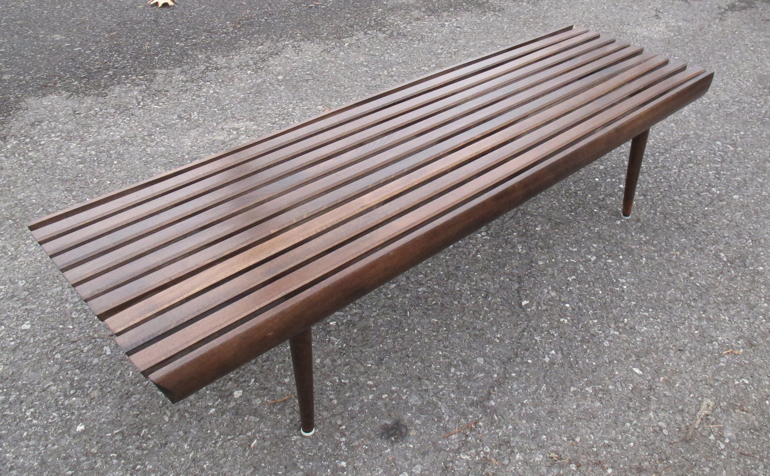 MID CENTURY GEORGE NELSON STYLE SLAT BENCH COFFEE TABLE